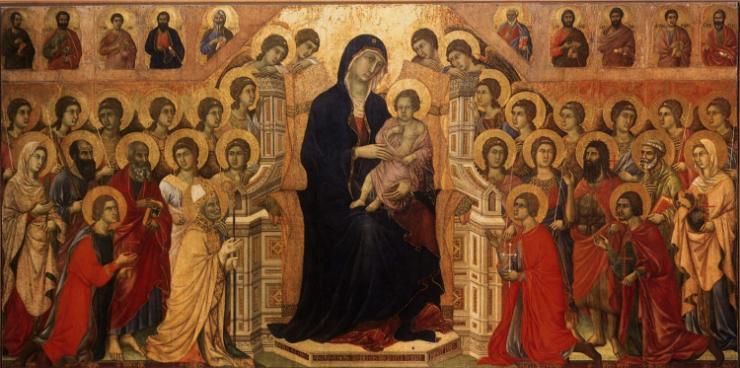 Virgen con el niño © Duccio di buoninsegna