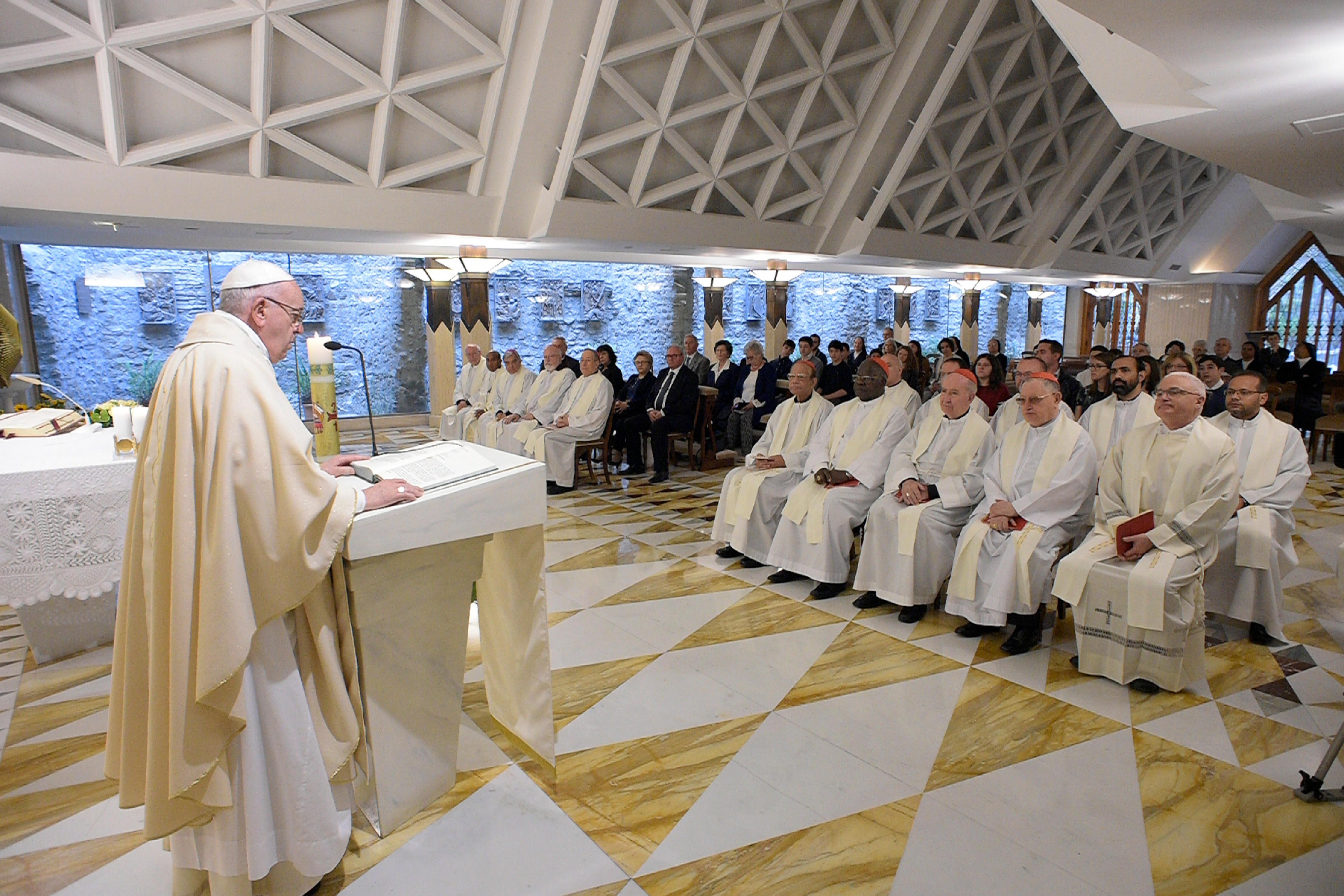 Misa del Papa en Santa Marta 24 abril 2018 © Vatican Media