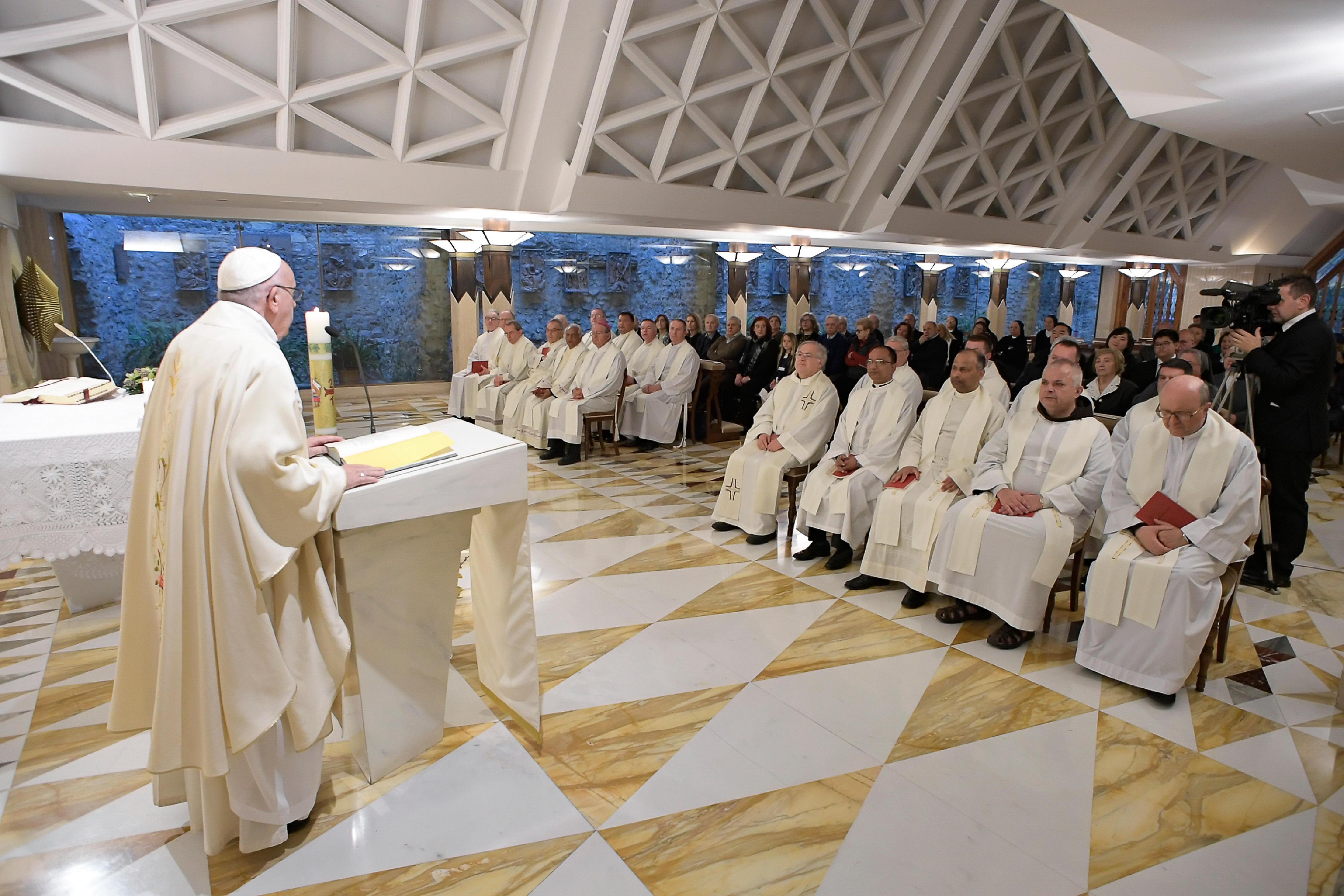 Eucaristía en Santa Marta 12/04/2018 © Vatican Media