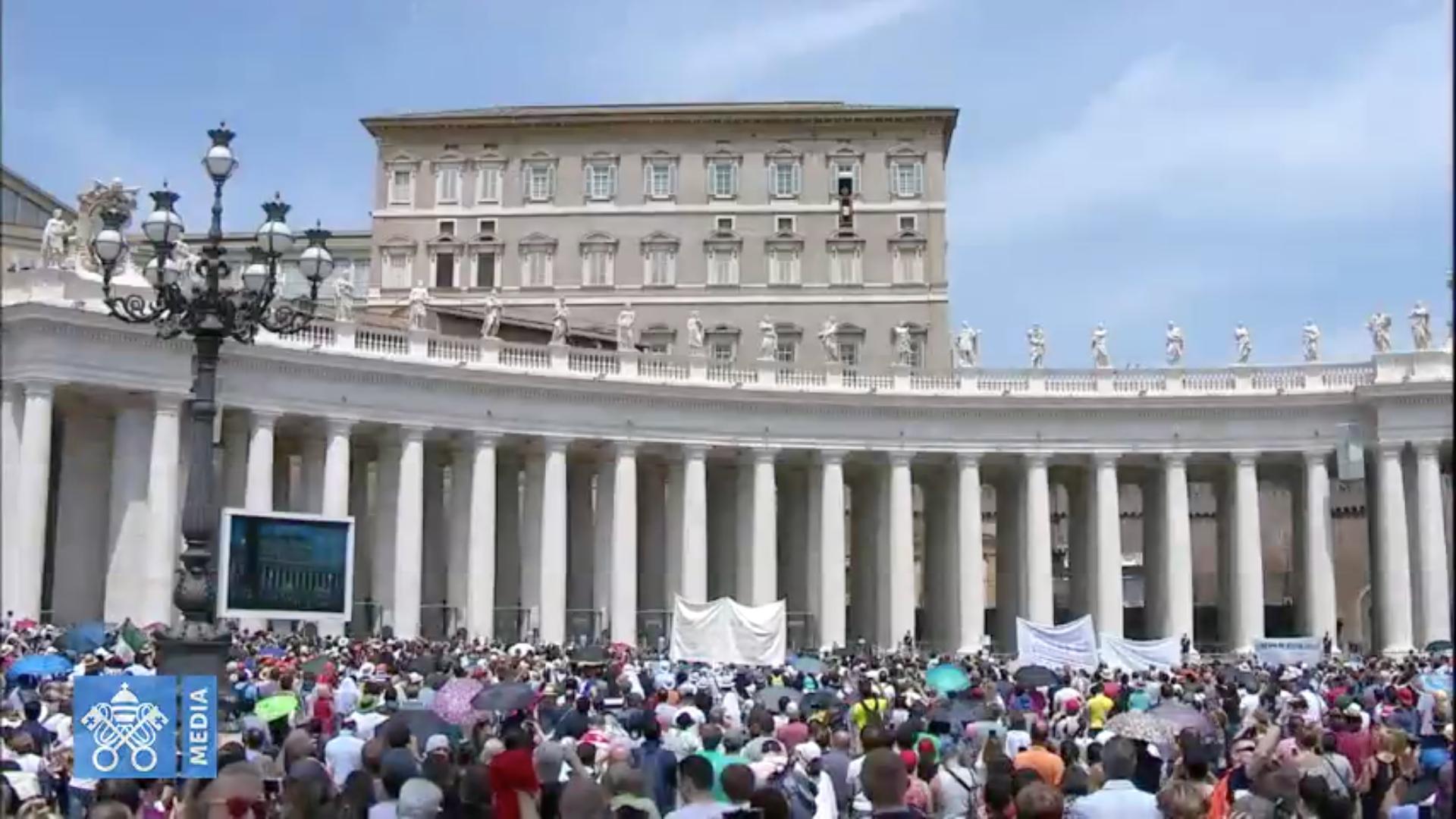 Angélus 27/05/2018, Capture @ Vatican Medi