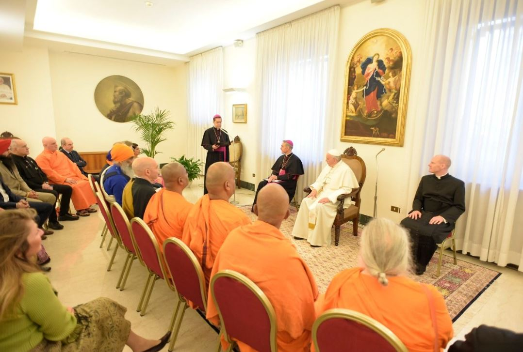Budistas, jainistas, hinduistas © Vatican Media