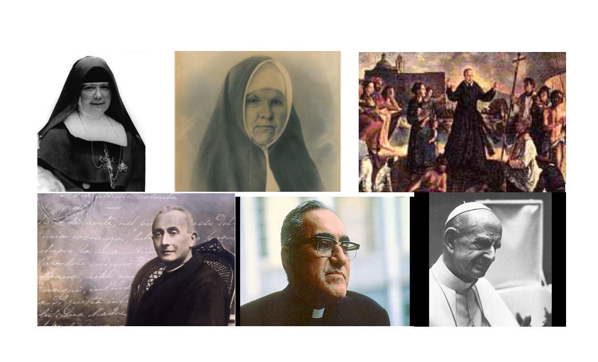 6 santos canonizados el pasado 14 de octubre de 2018 por el Papa Francisco