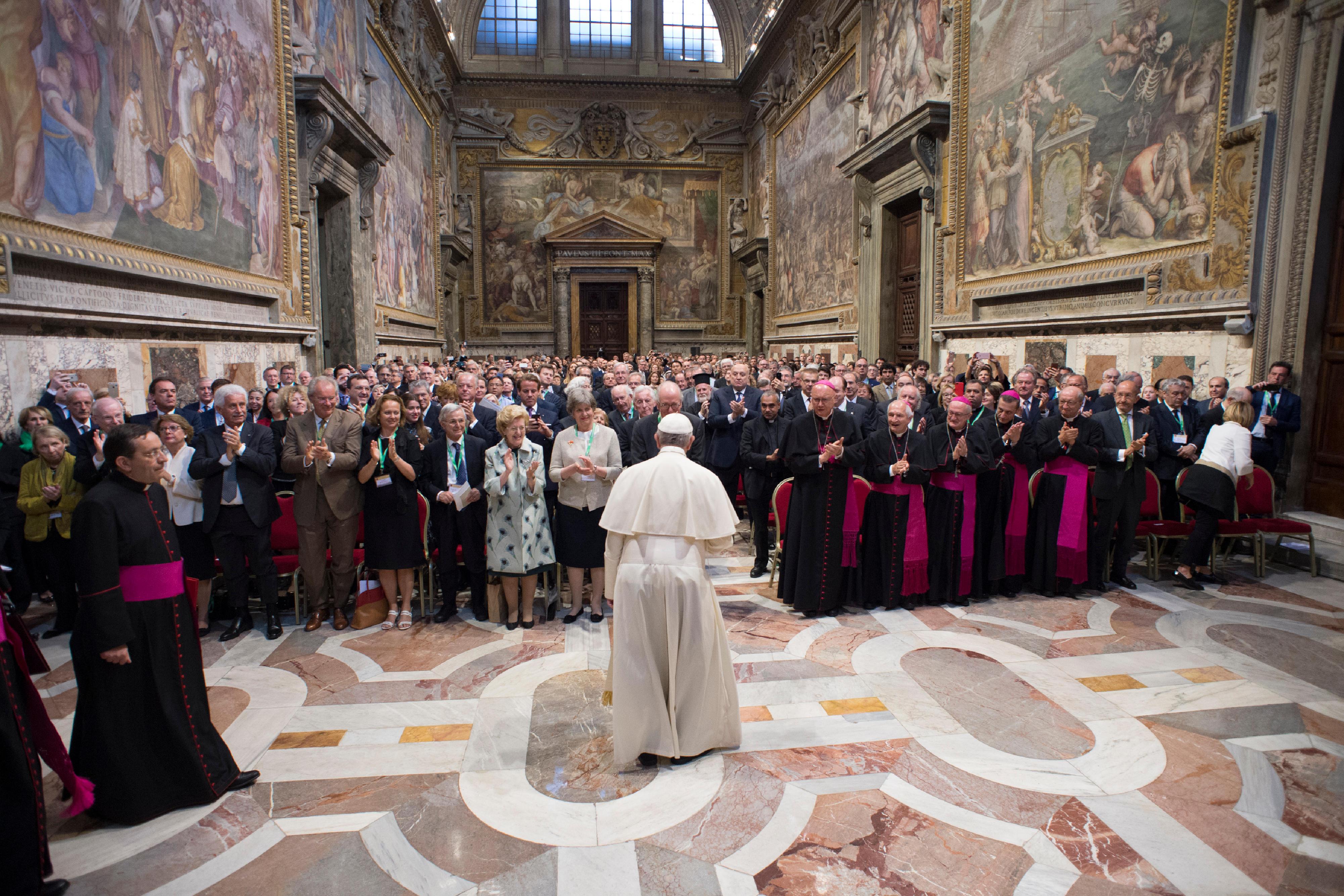 Audiencia con los miembros de la Fundación Centesimus Annus - Pro Pontifice © Vatican Media