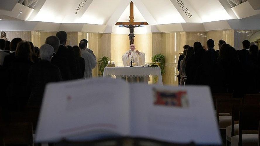 Misa en la capilla de Santa Marta© Vatican Media