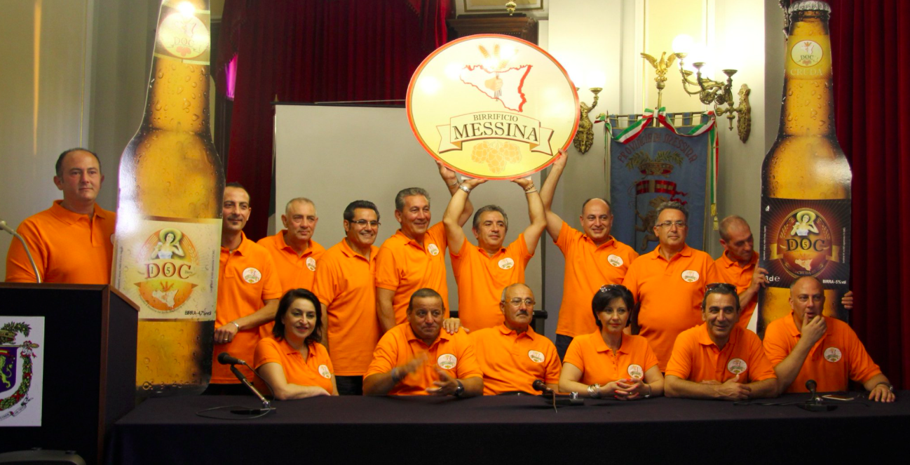 Equipo de cerveceros de Messina © Birrificio Messina
