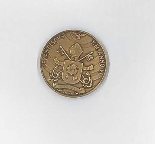 Foto de la medalla oficial © Vatican Media
