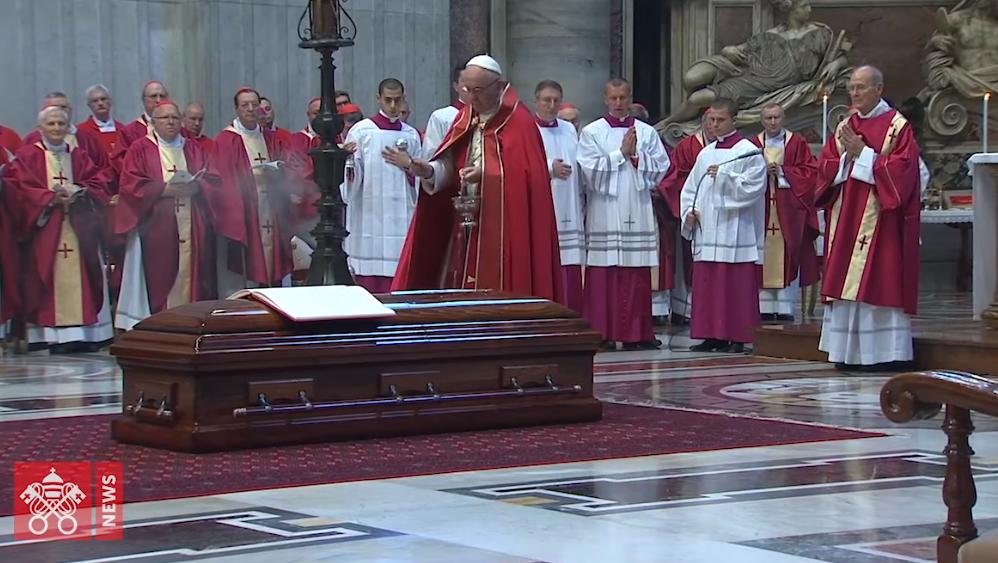 Funeral del Cardenal Tauran. Captura Vatican News
