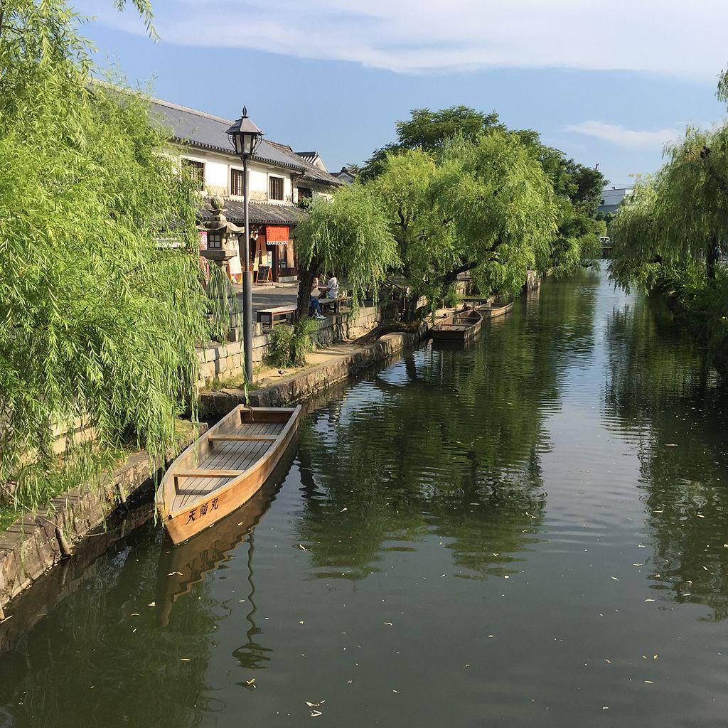 Kurashiki, distrito del canal, en 2016 @ Wikimedia Commons / Malaiya