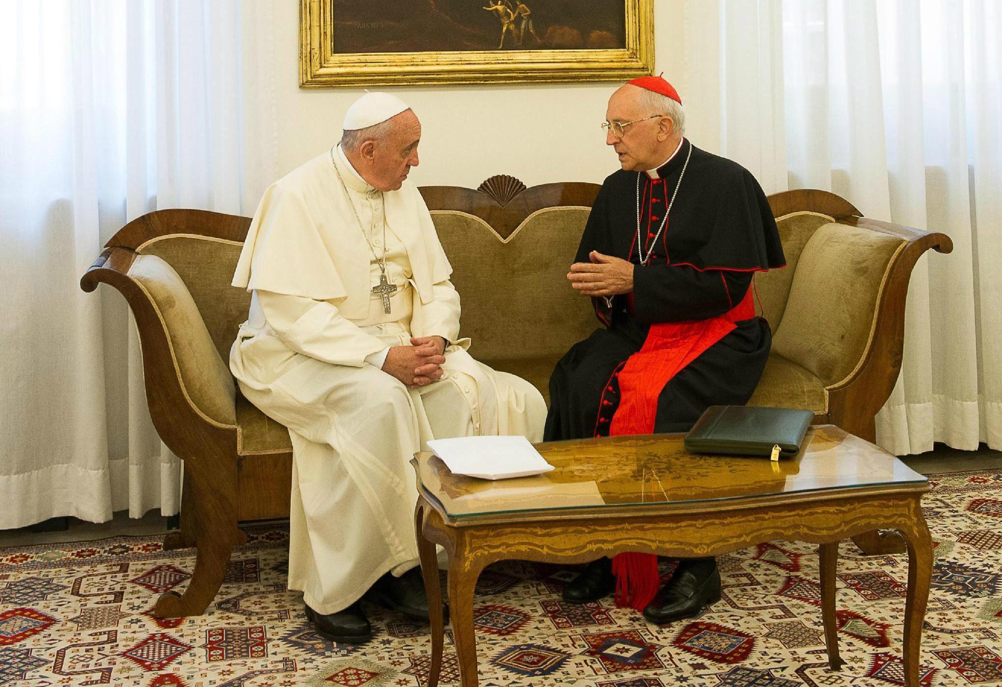 El Papa Francisco y el Cardenal Filoni © L'Osservatore Romano