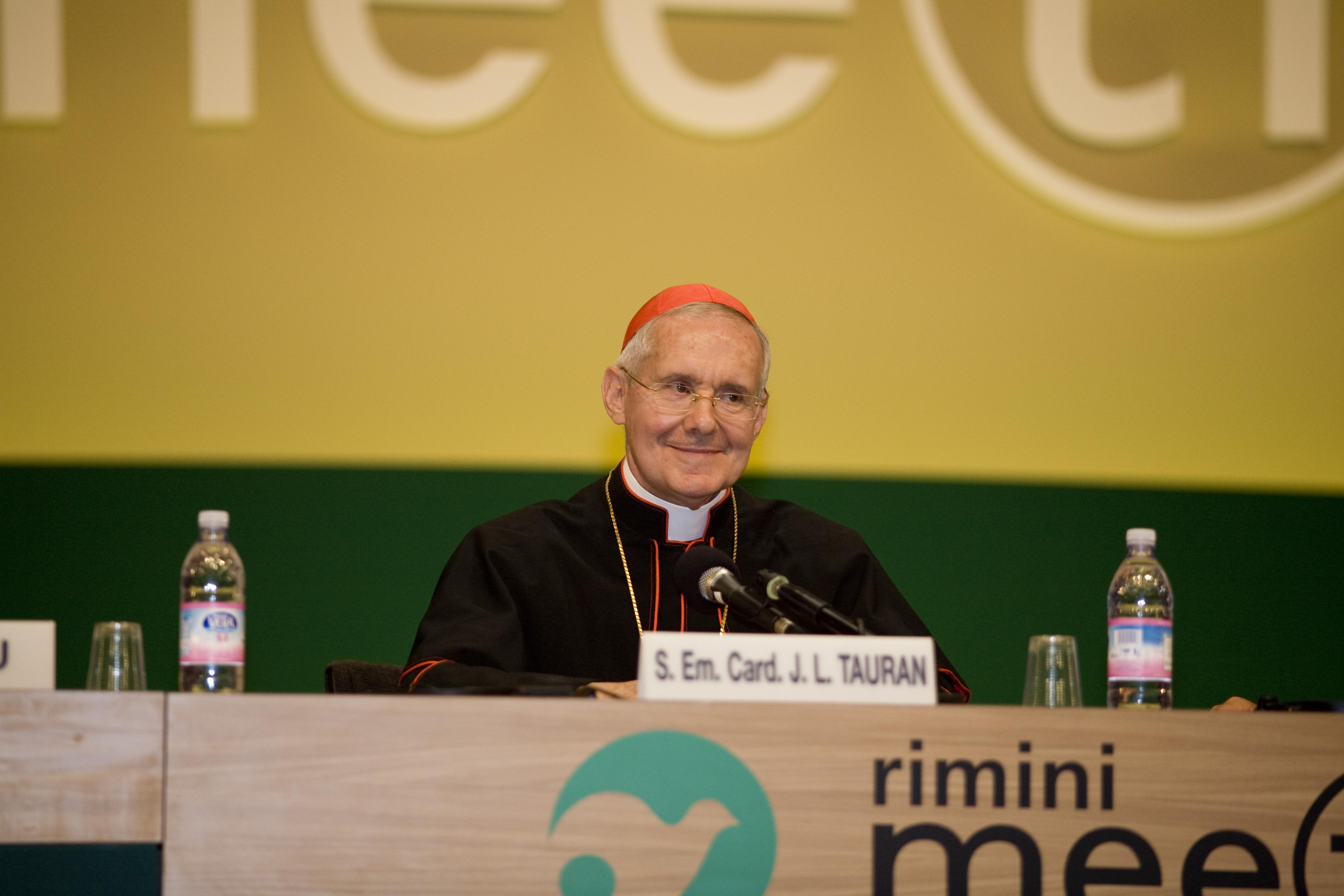 El cardenal Touran en el Meeting de Rimini © www.meetingrimini.org