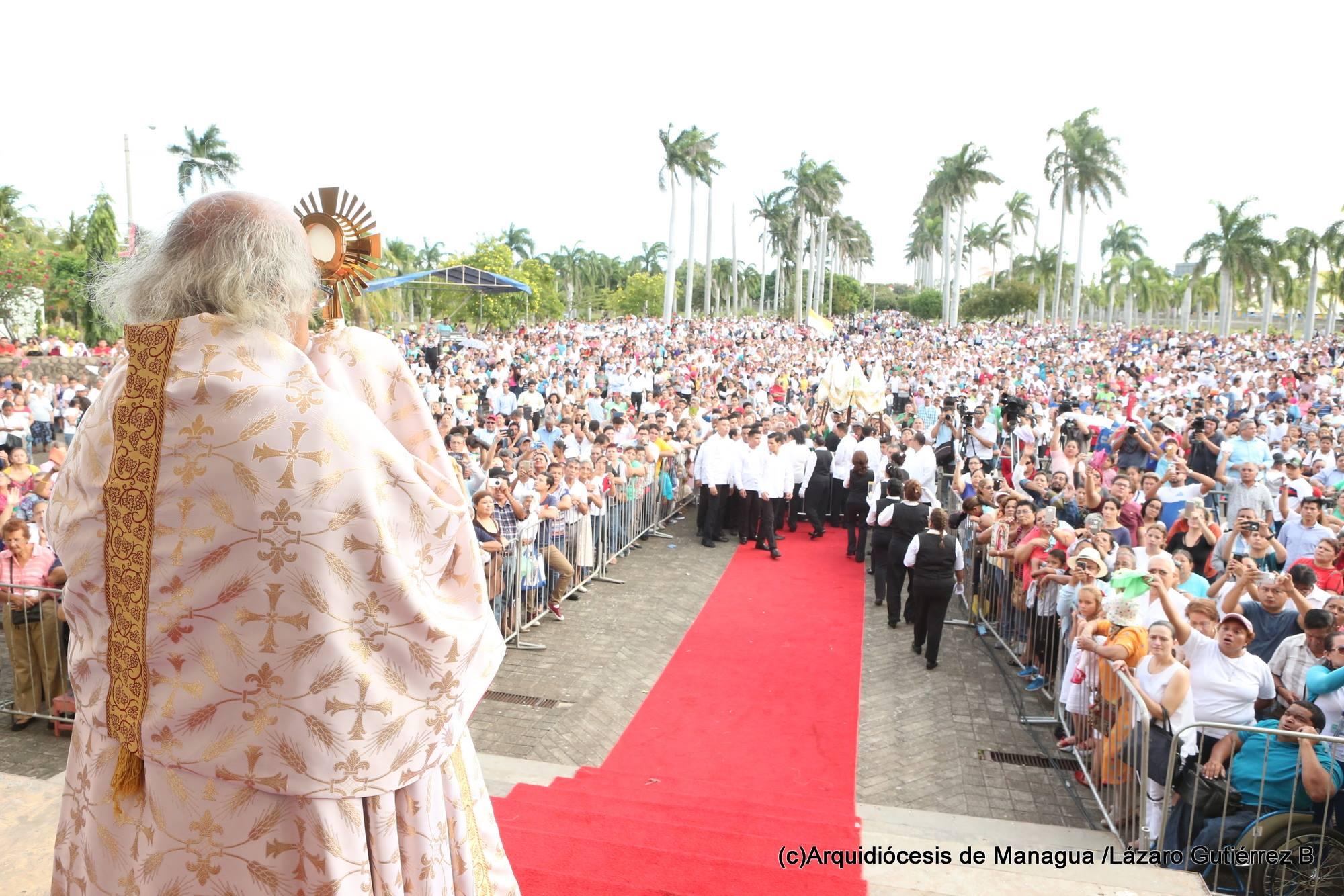 El Arzobispo de Managua, Nicaragua © Facebook Archidiócesis de Managua