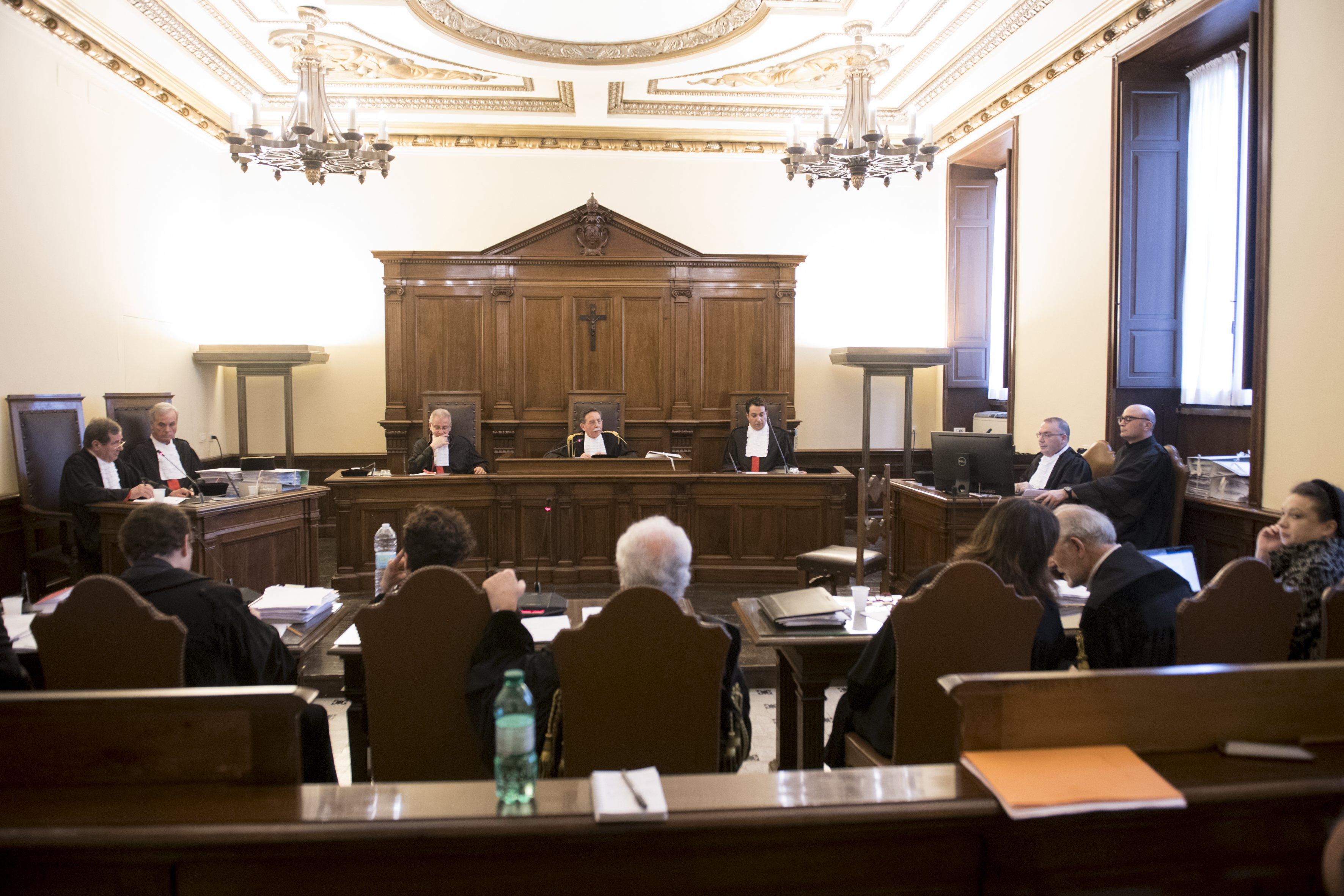 Proceso de Caloia y Liuzzo 09/05/2018 © Vatican Media