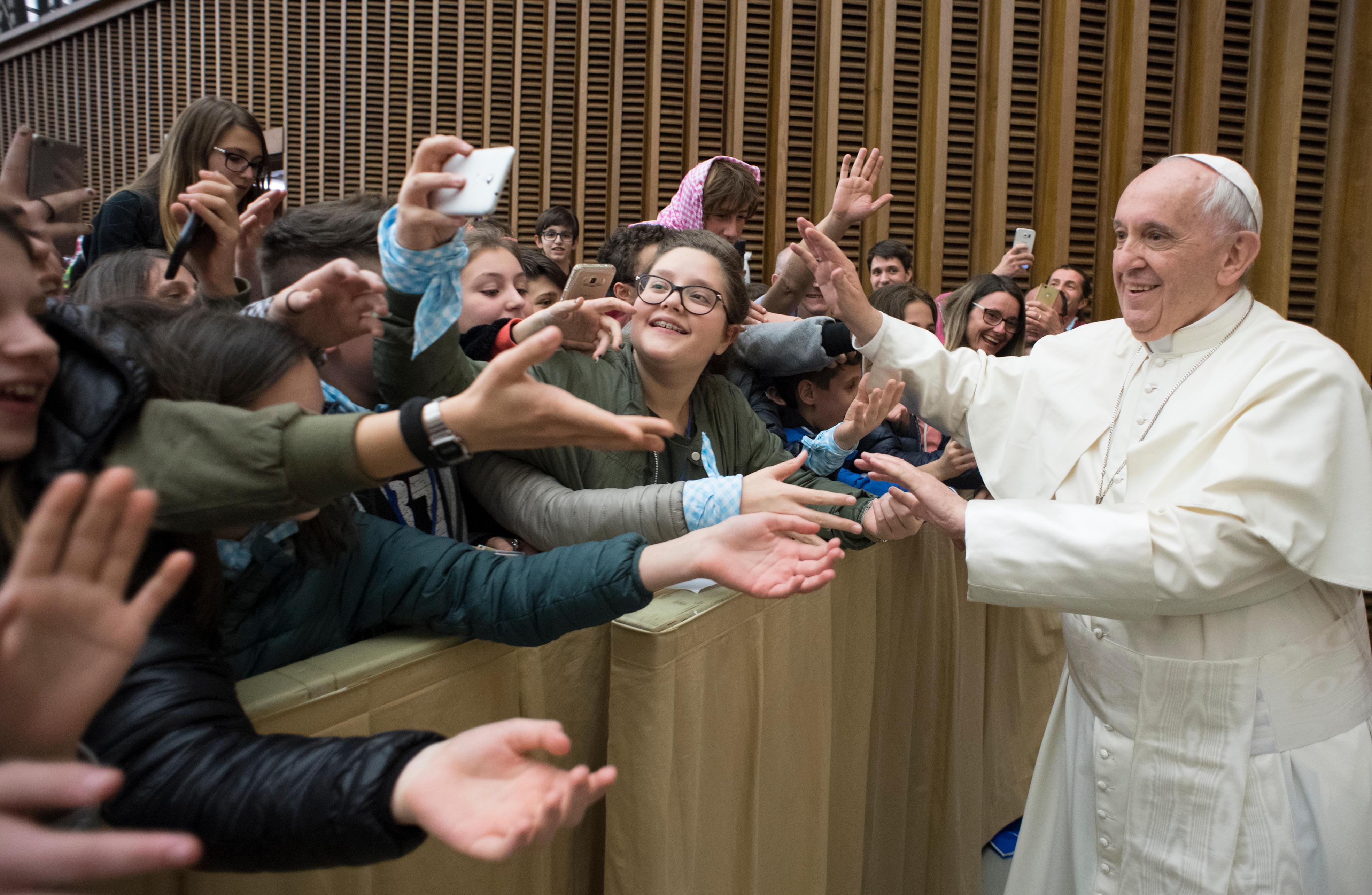 Jóvenes de la diócesis De Brescia © Vatican Media