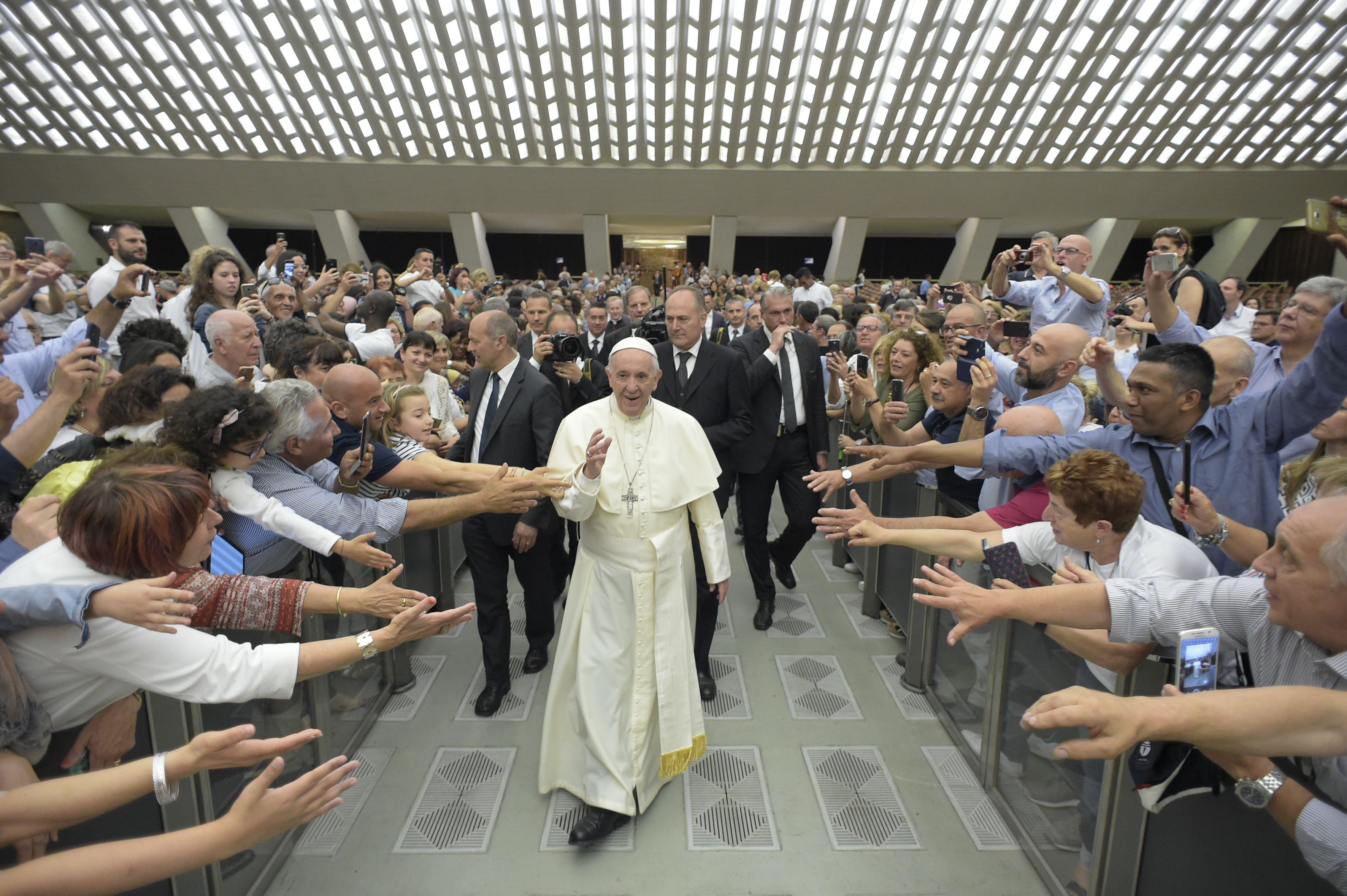 Audiencia del Papa Francisco, Aula Pablo VI, 2-6-2018 © Vatican Media