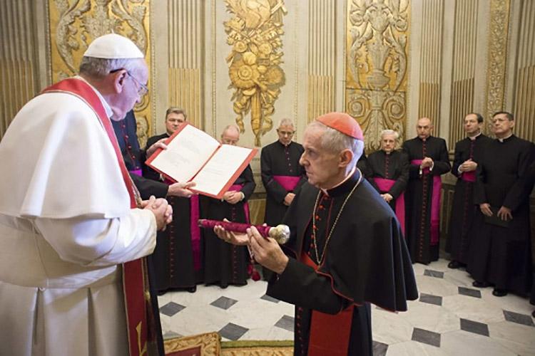 jean louis tauran, juramento al Papa Francisco © Blog: Enraizados en Cristo