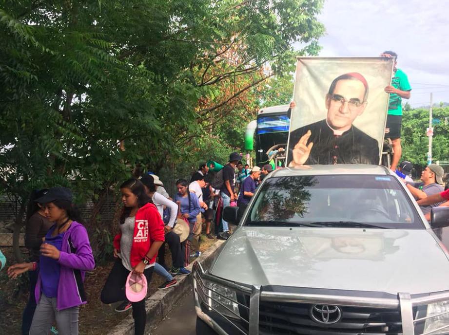 Segundo día de la Peregrinación en El Salvador © Facebook: Camino de Monseñor Romero