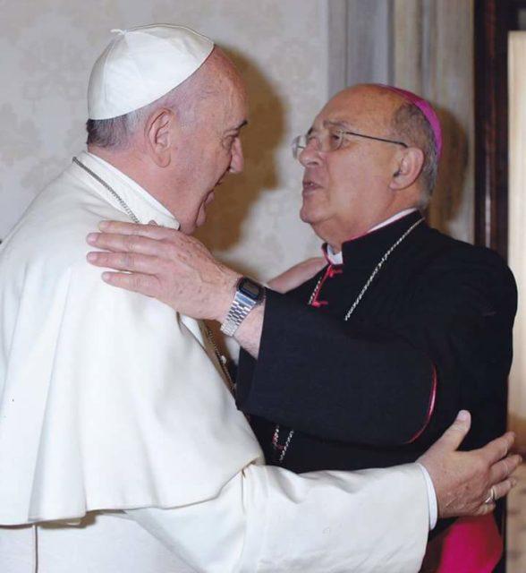 El Cardenal Pedro Barreto con el Papa Francisco © Vatican Media