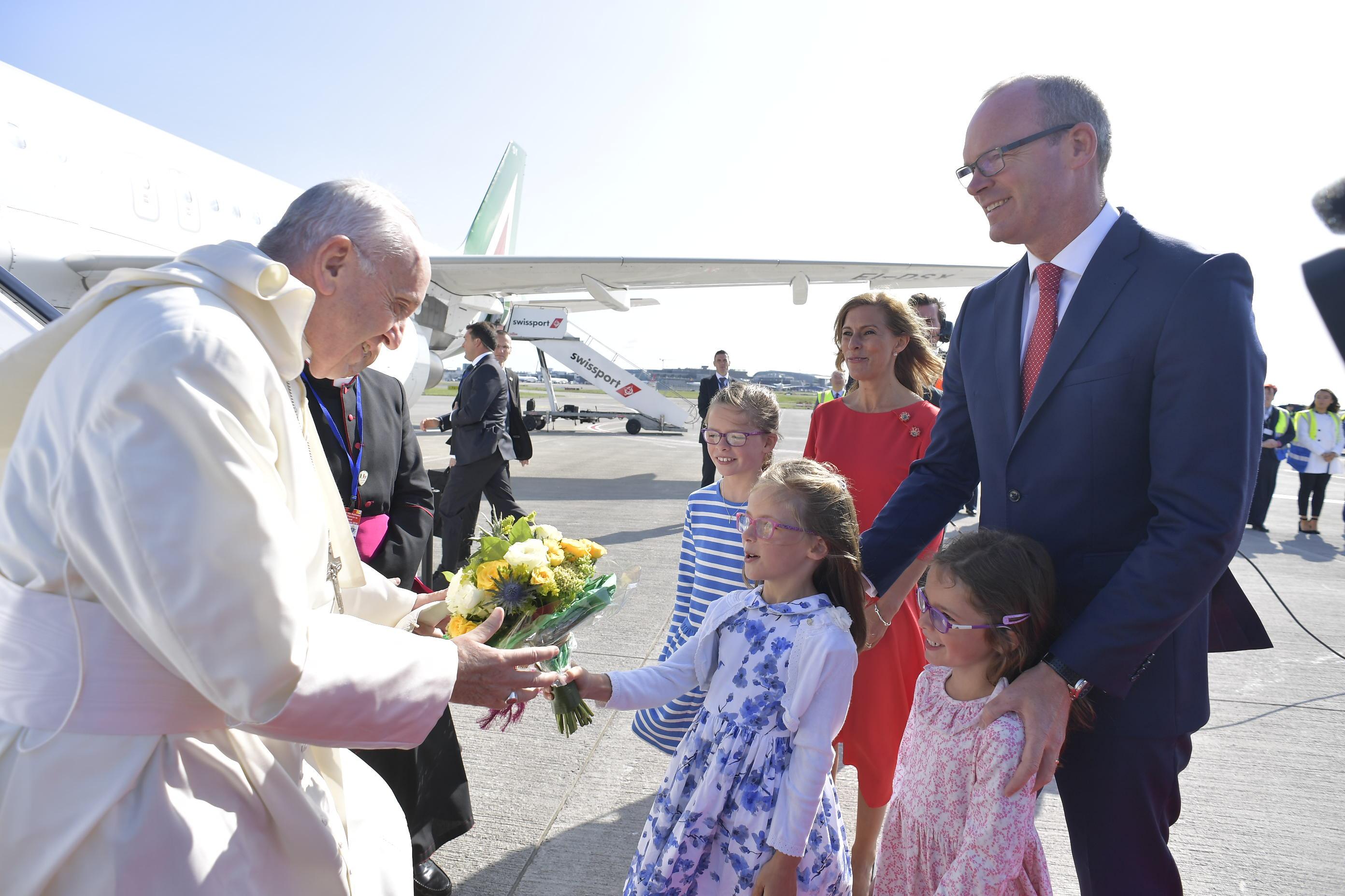 Llegada al Aeropuerto Internacional de Dublín, 25 de agosto de 2018 © Vatican Media
