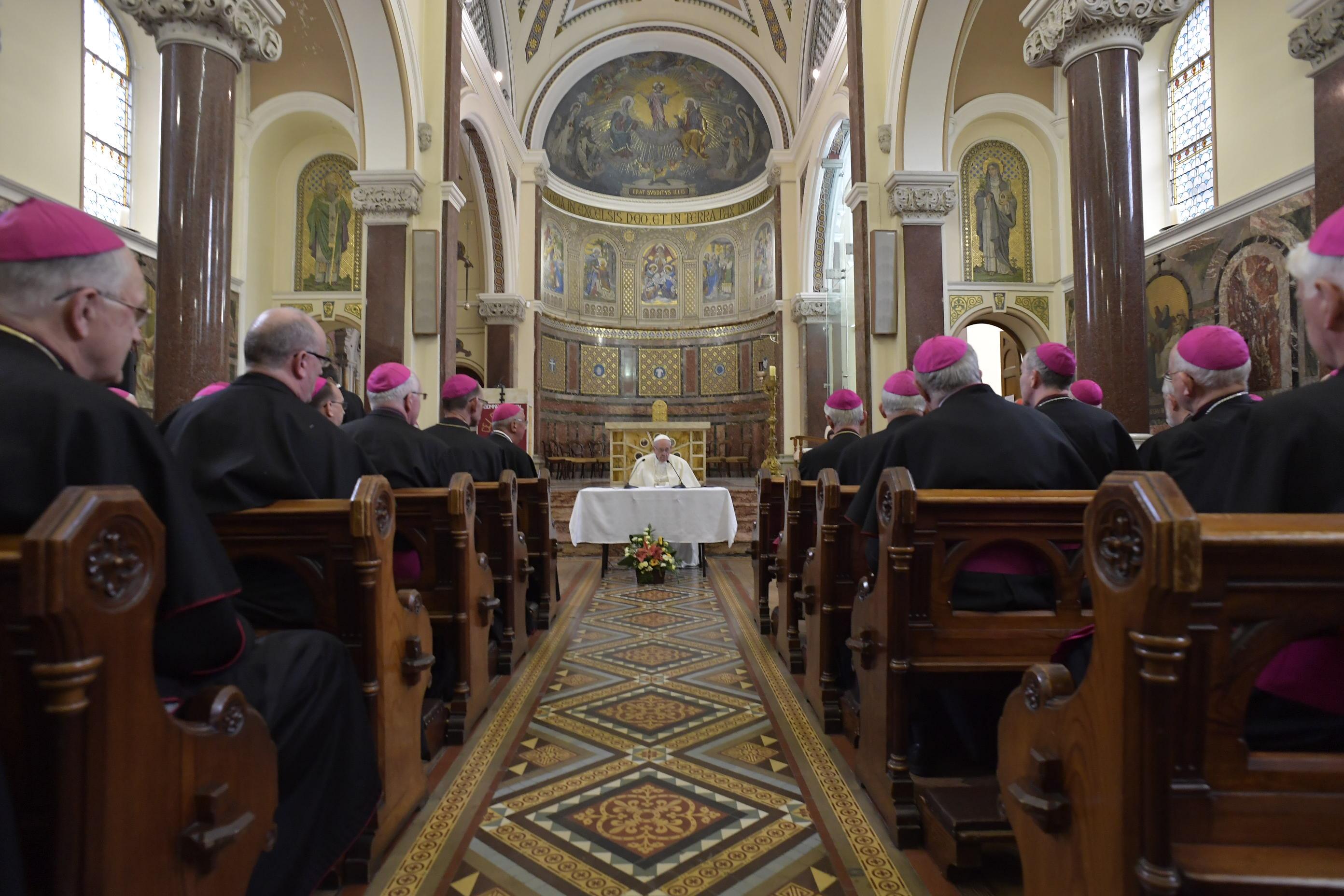 Francisco se encuentra con los obispos irlandeses, 26 agosto 2018 © Vatican Media