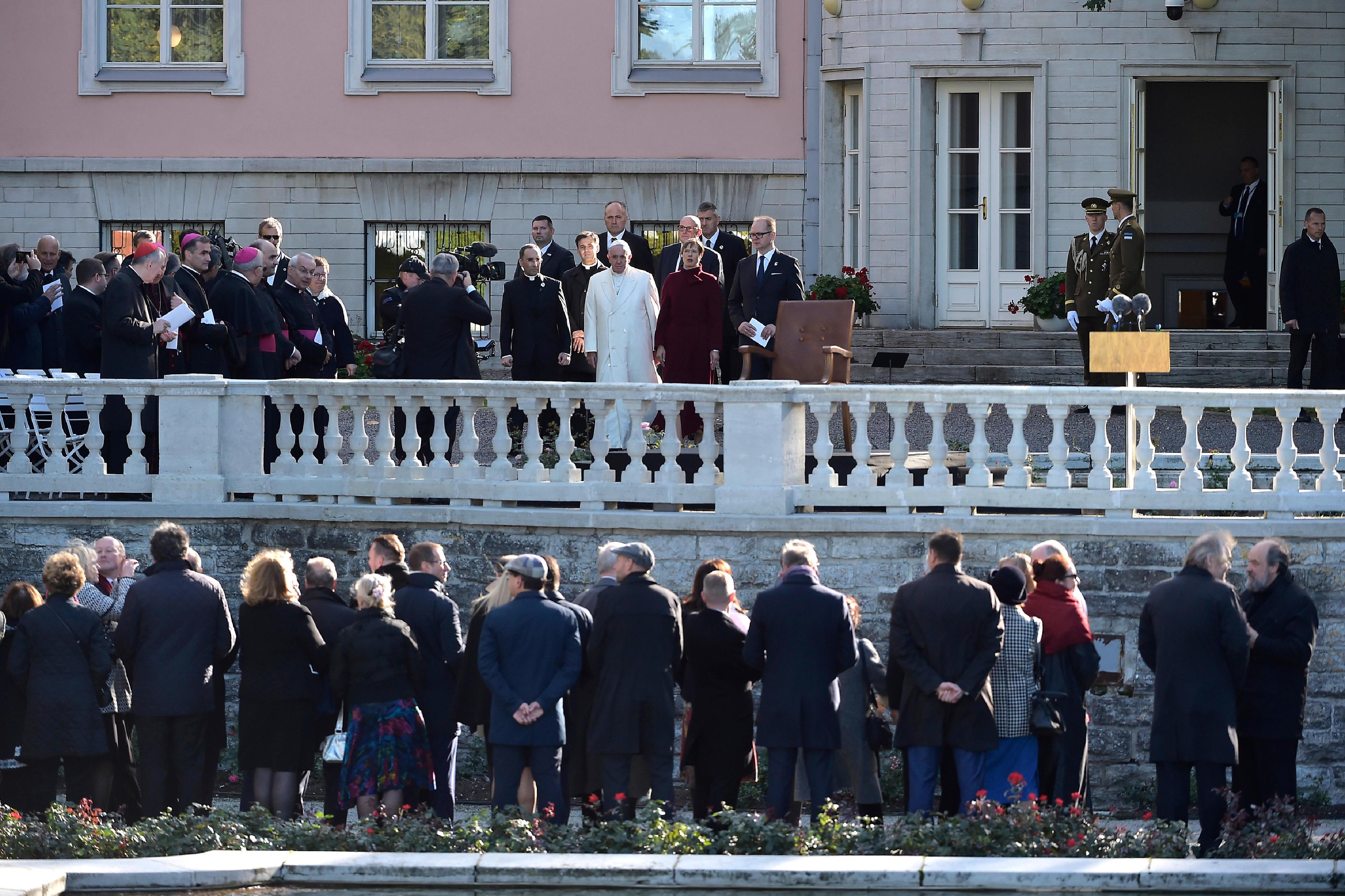 Encuentro del Papa con las autoridades civiles de Estonia © Vatican Media
