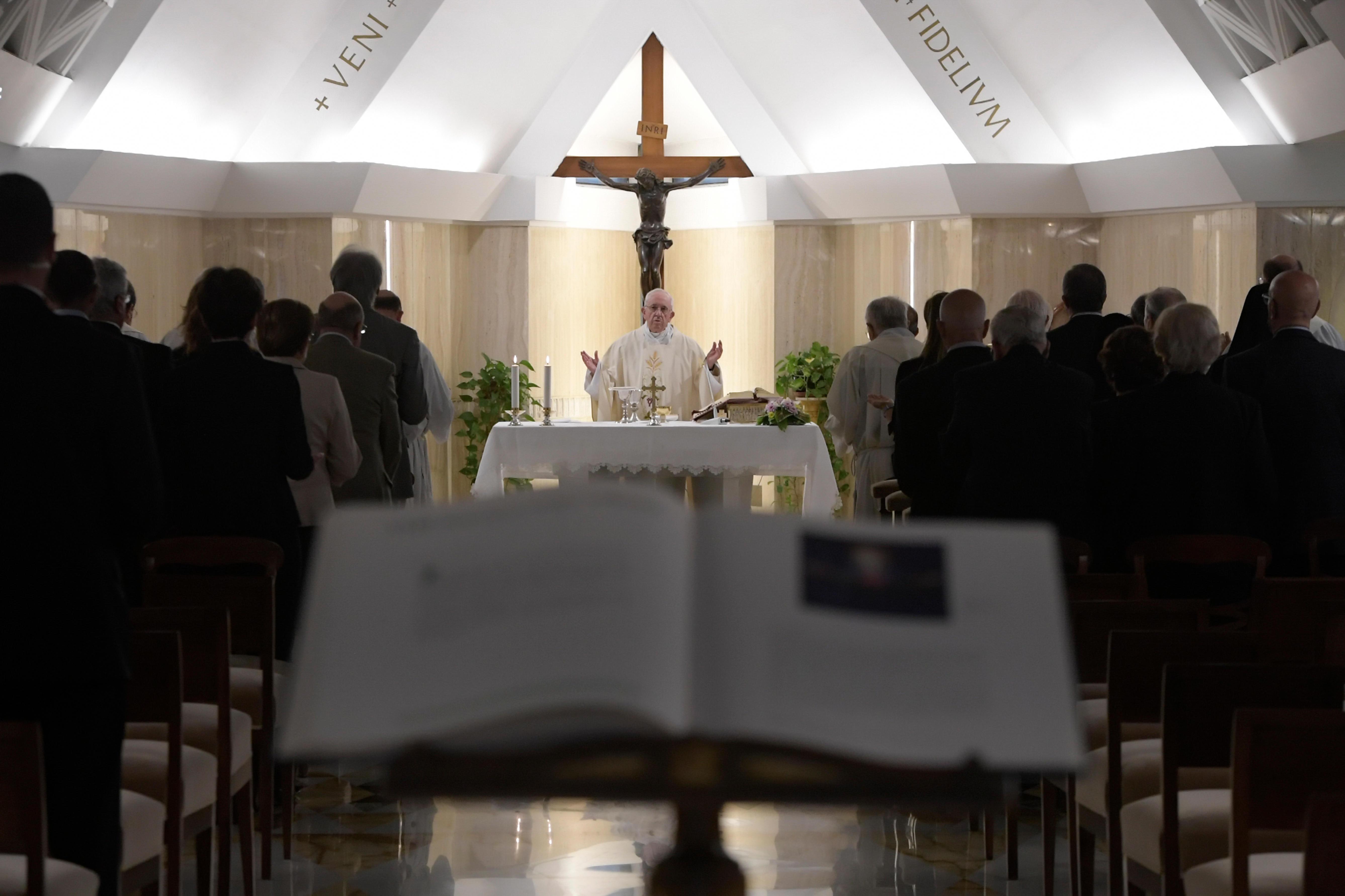 El Papa preside la Misa en Santa Marta, 13/09/2018 © Vatican Media