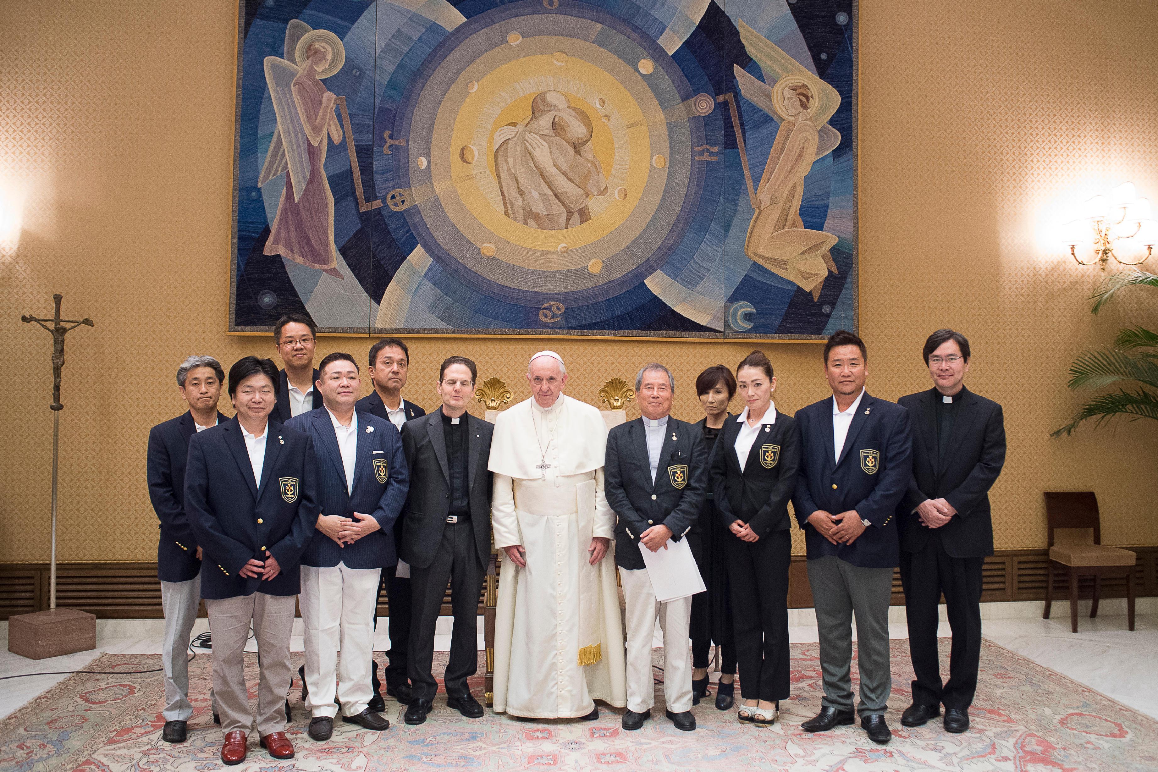 Audiencia del Papa con la Asociación japonesa 'Tensho' © Vatican Media