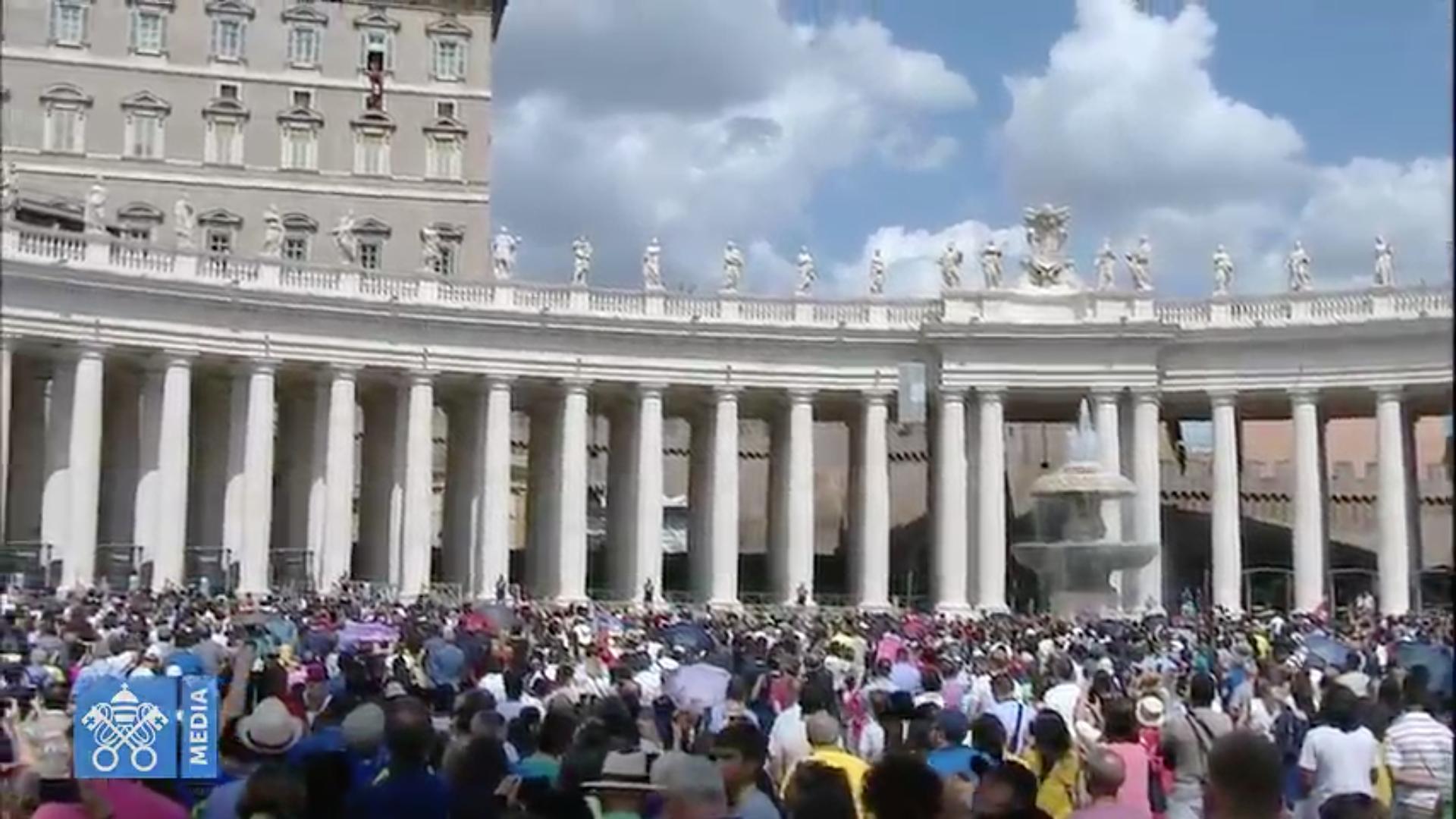 Oración del Ángelus, Captura Vatican Media
