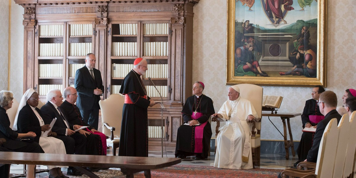 Miembros de la Comisión con el Papa Francisco © Comisión Pontificia para la Protección de Menores
