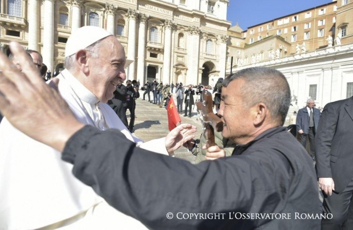 El Papa Se Encuentra Con Los Peregrinos Chinos © L'Osservatore Romano