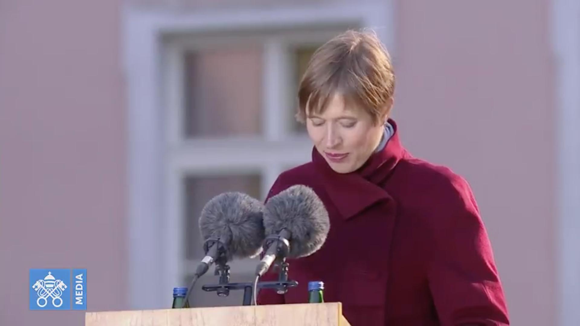 La Presidenta Kersti Kaljulaid © Vatican Media