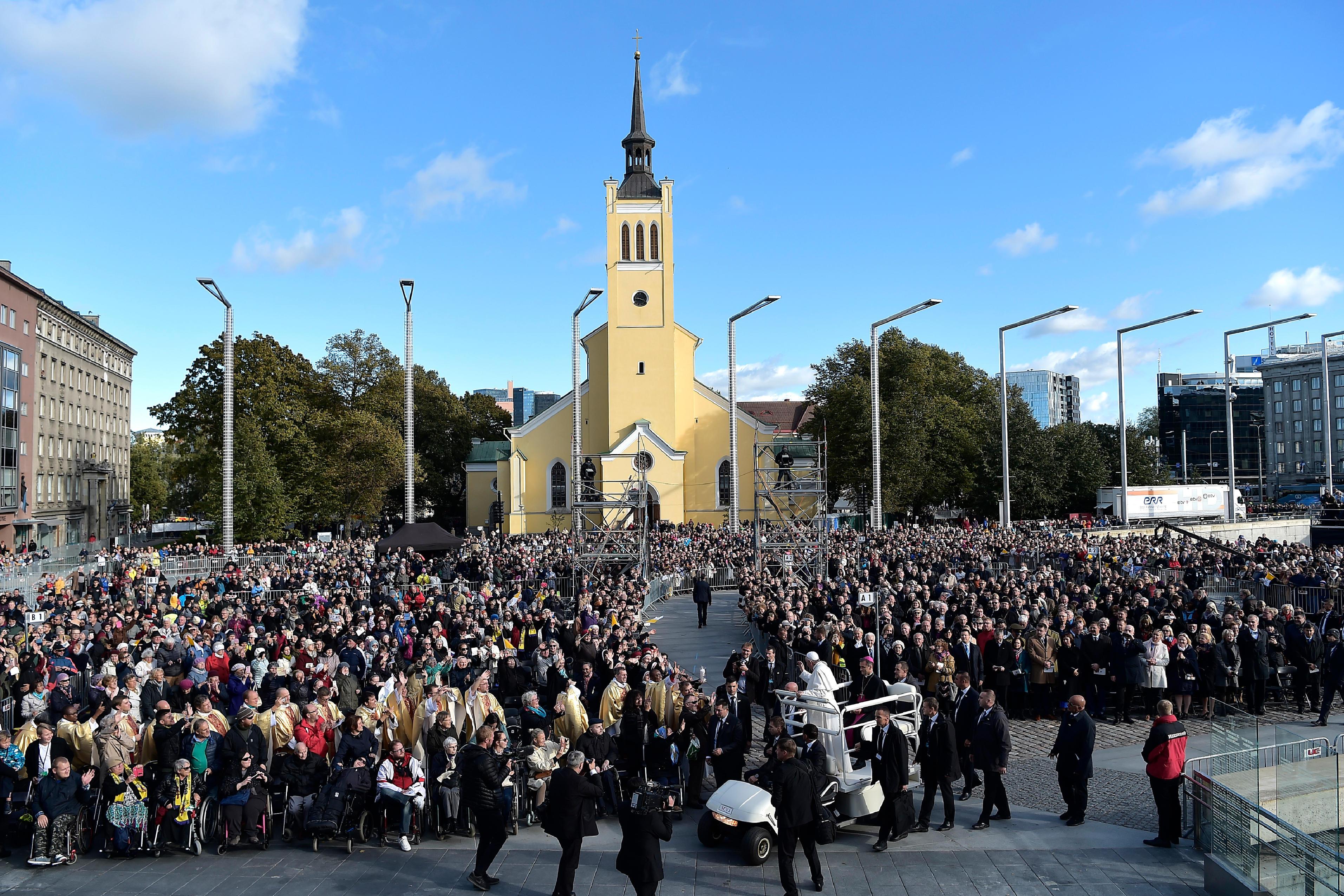 Plaza De La Libertad, Tallin, Estonia © Vatican Media