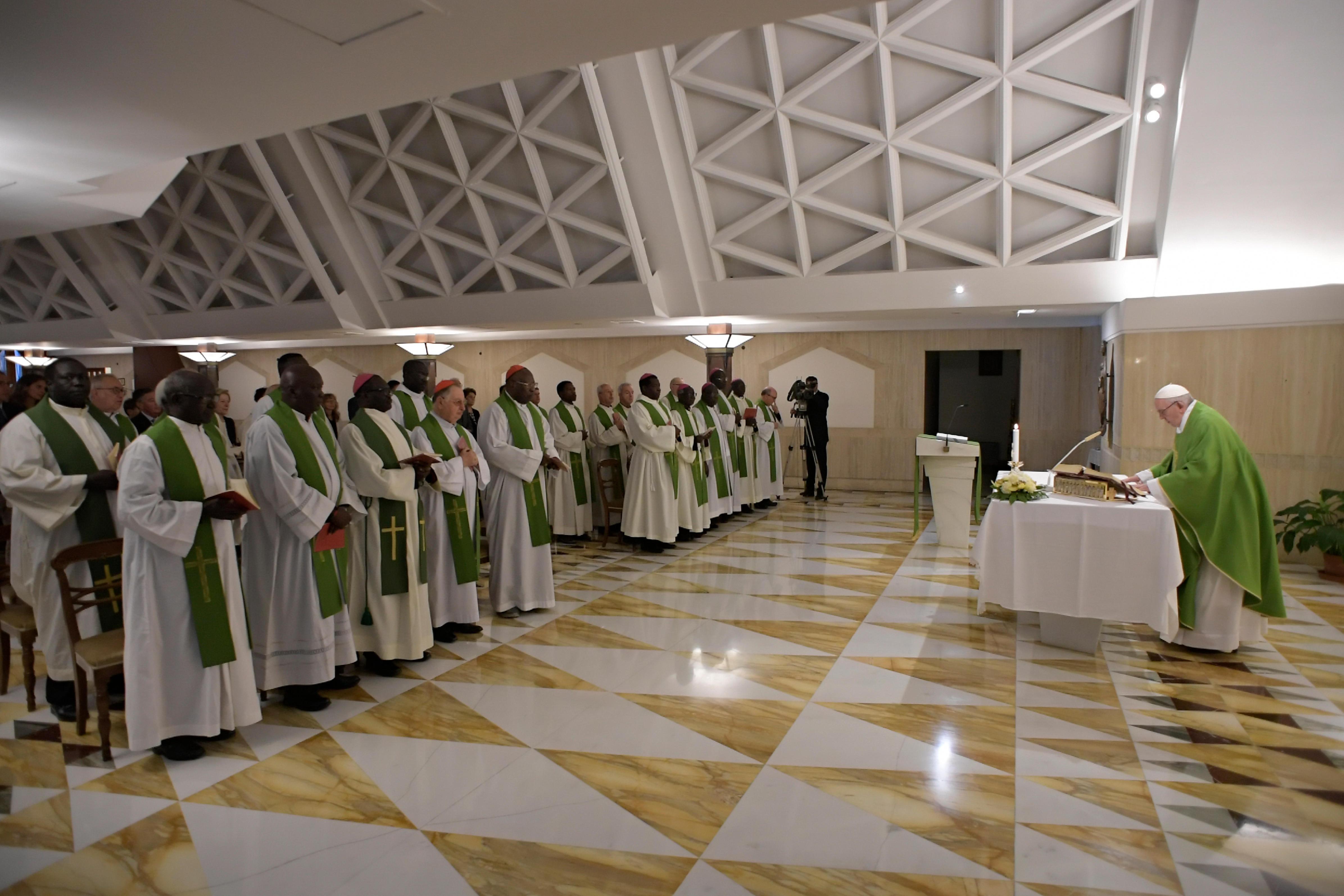 El Papa celebra la Misa en Santa Marta, 4 sept. 2018 © Vatican Media