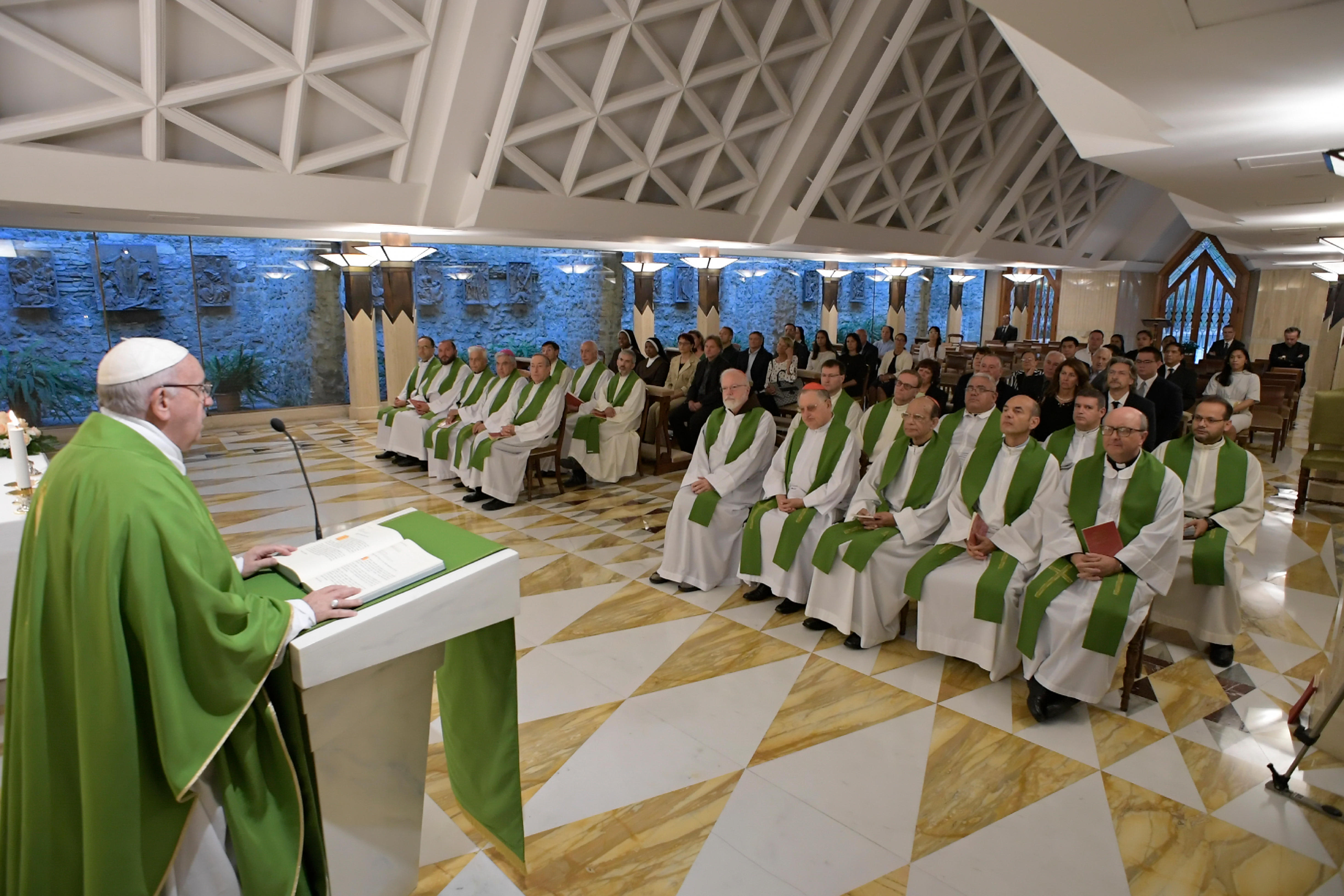 Obispos en la Misa de Santa Marta, 11 sept. 2018 © Vatican Media