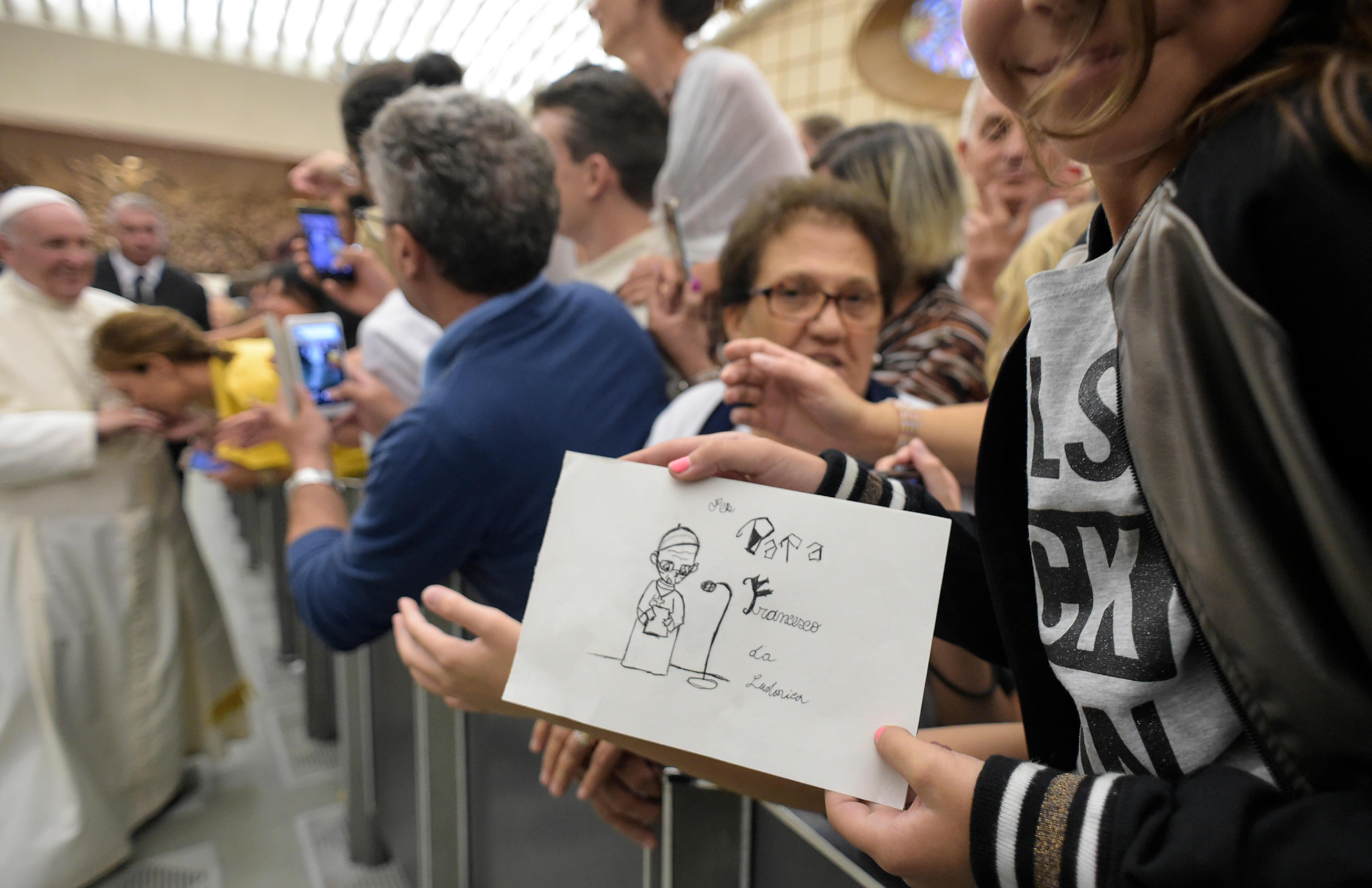 Audiencia del Papa con la Asociación Italiana de Padres © Vatican Media