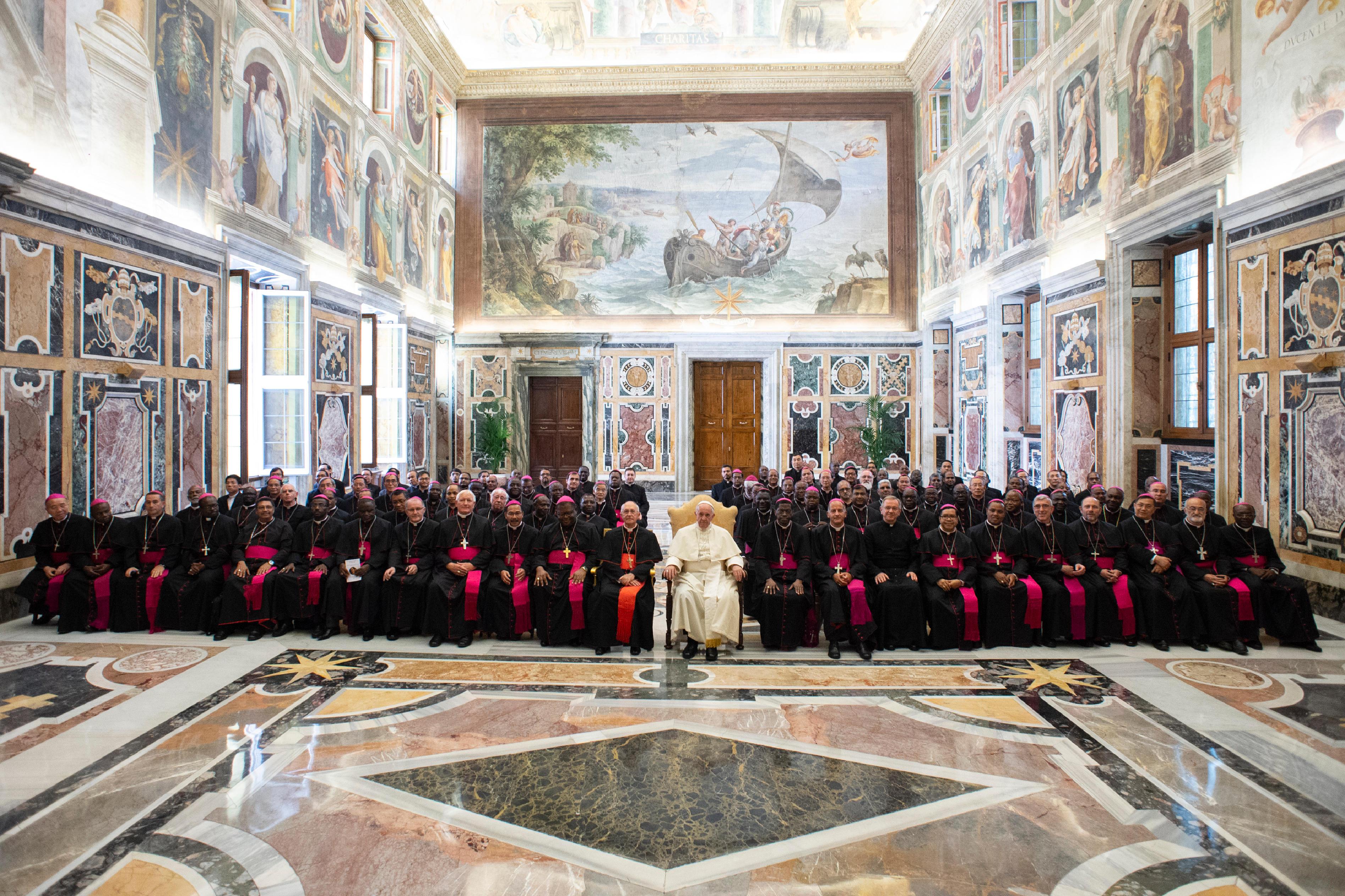 Audiencia del Papa Francisco con los obispos, 8 sept. 2018 © Vatican Media