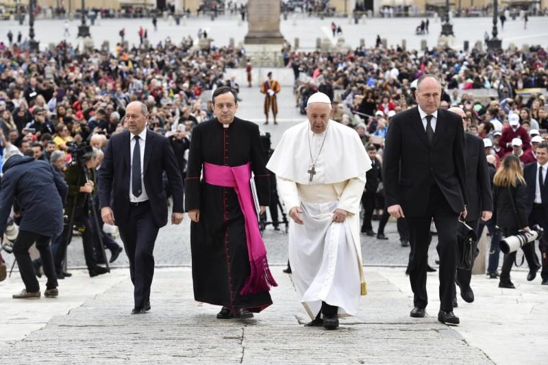Francisco predica las catequesis sobre los mandamientos, 31 oct. 2018 © Vatican Media