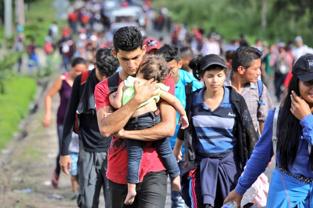 Emigrantes de Honduras © Twitter (Úrsula Iguarán)