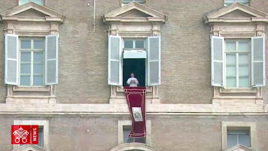 Palabras del Papa en el Ángelus. Captura pantalla Vatican Media