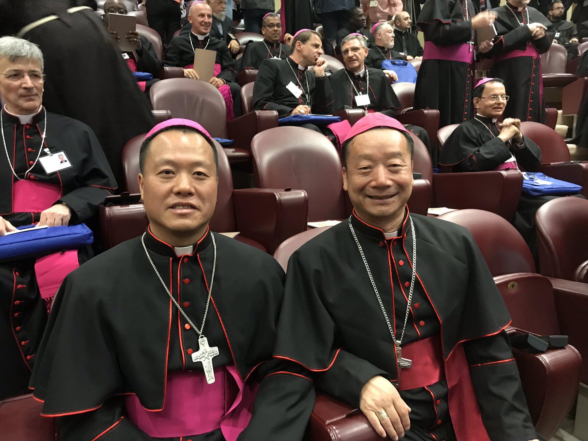 Los obispos chinos que participaron en el Sínodo de los obispos, octubre 2018 © Vatican Media