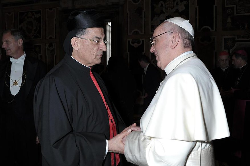 Francisco con el Patriarca de Antioquía y de Oriente © parroquia maronita