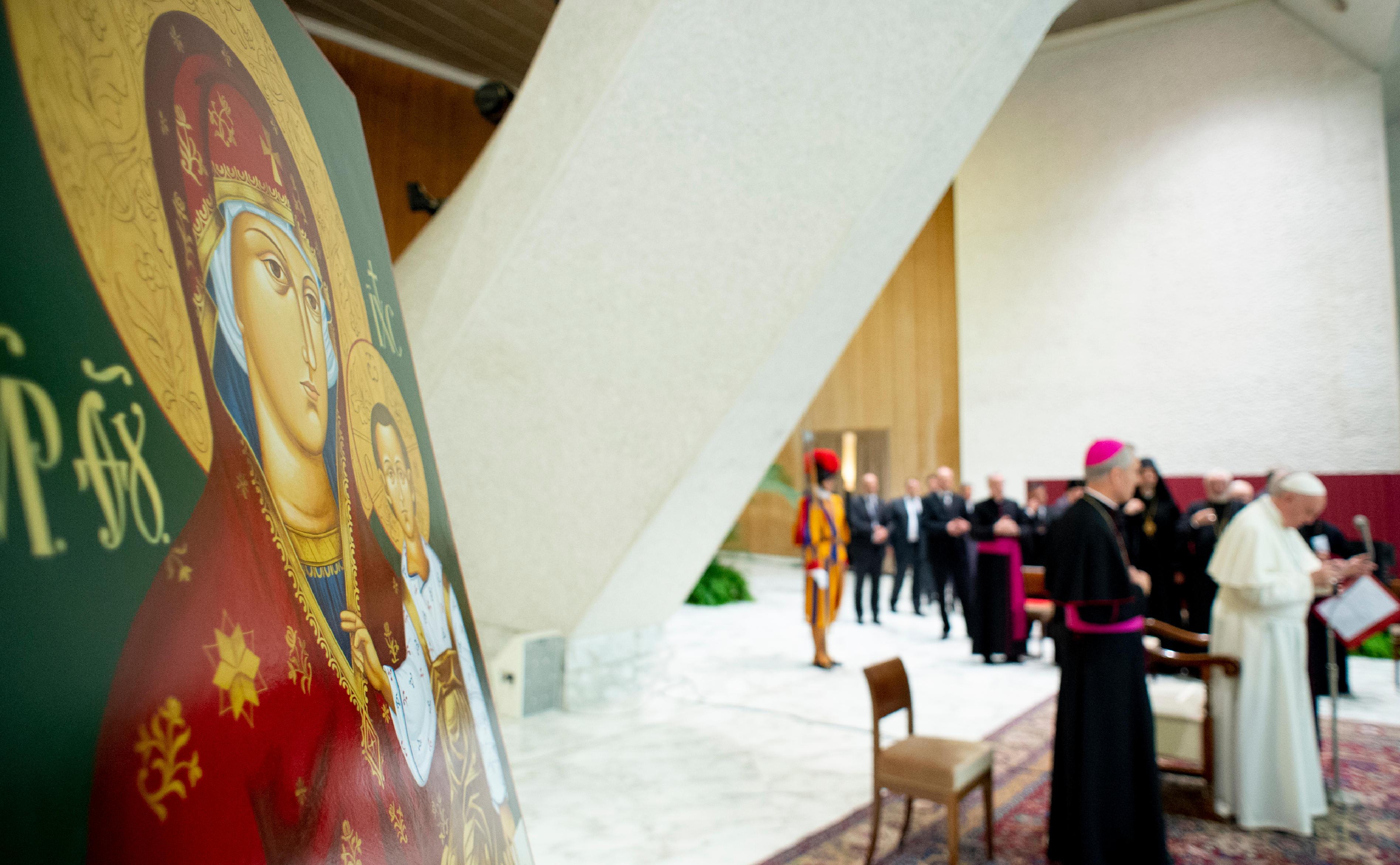 Audiencia del Papa con peregrinos de la iglesia católica greco-eslovaca © Vatican Media