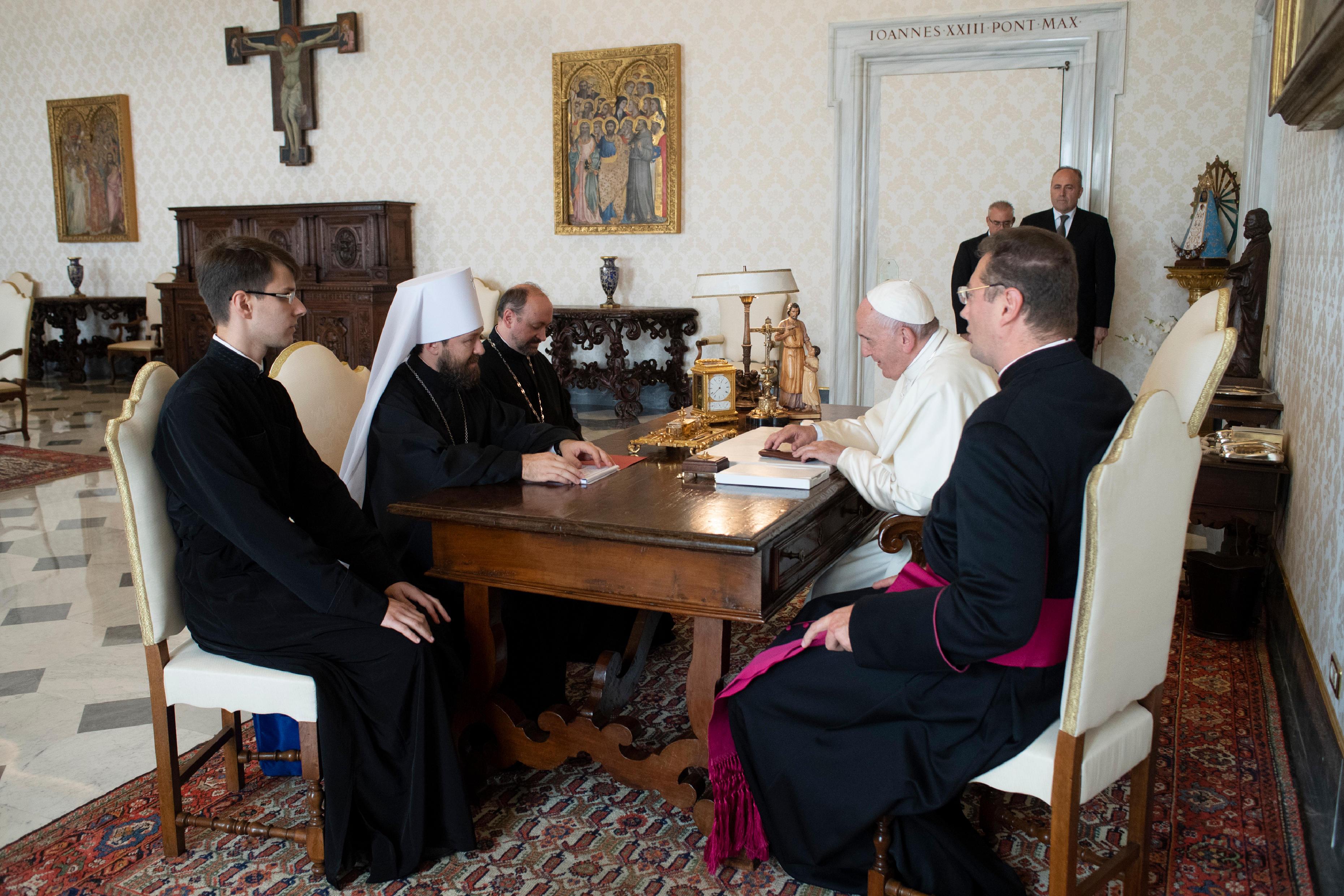 Visita del Metropolitano Hilarión © Vatican Media