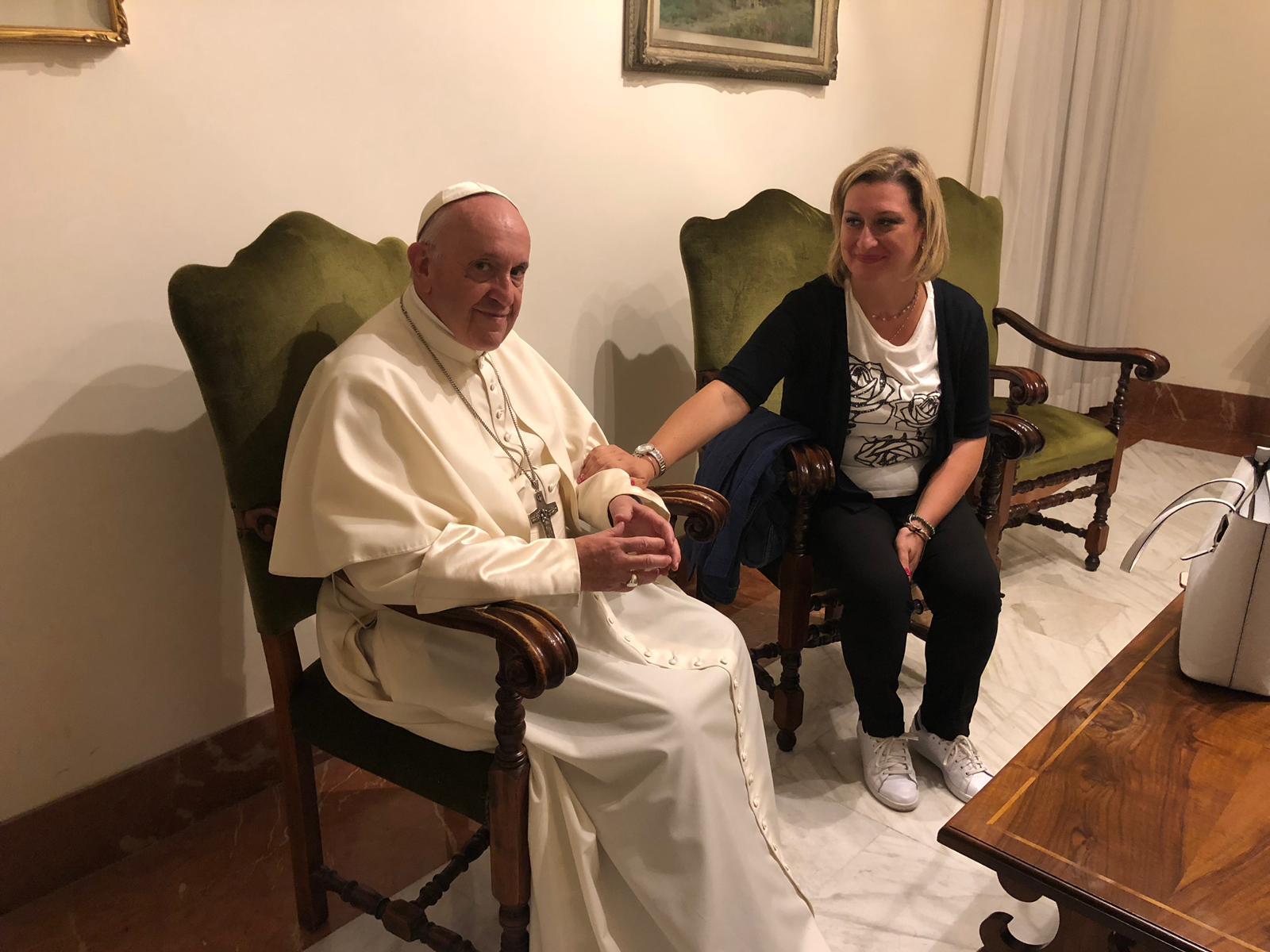 El Papa reunido con Antonietta © Vatican Media