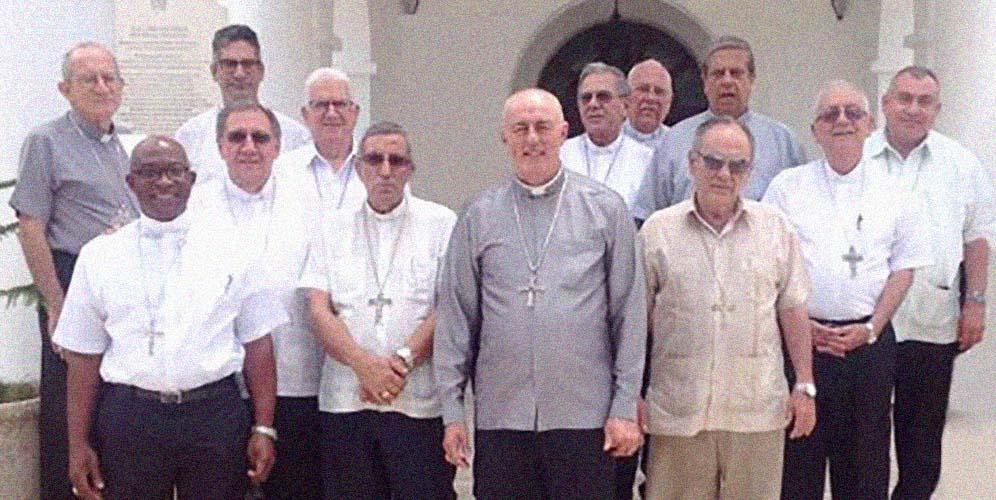 Los obispos cubanos con el Nuncio apostólico en junio de 2018 © Conferencia de obispos católicos de Cuba