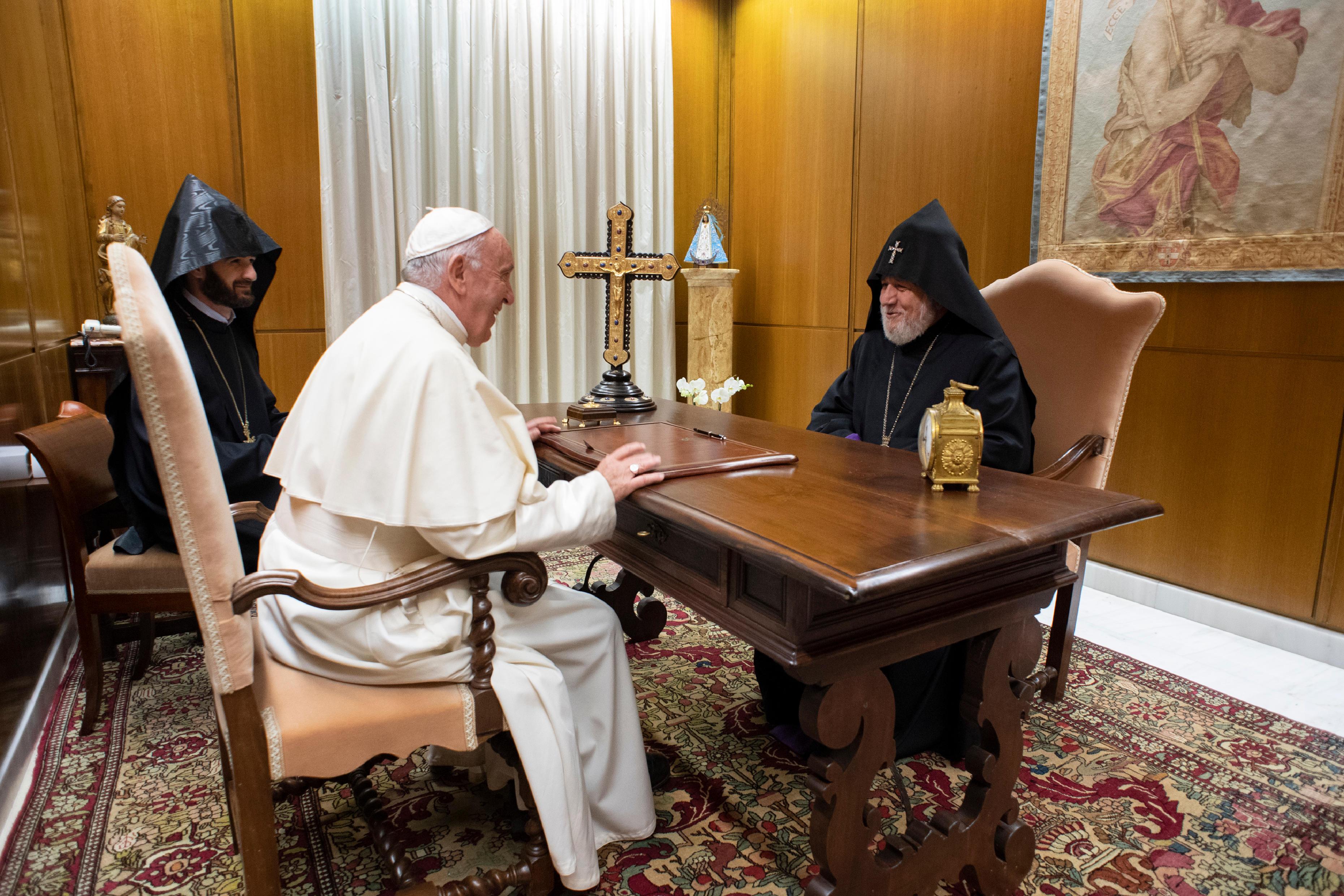 visita a Karekin II, 24 octubre 2018 © Vatican Media