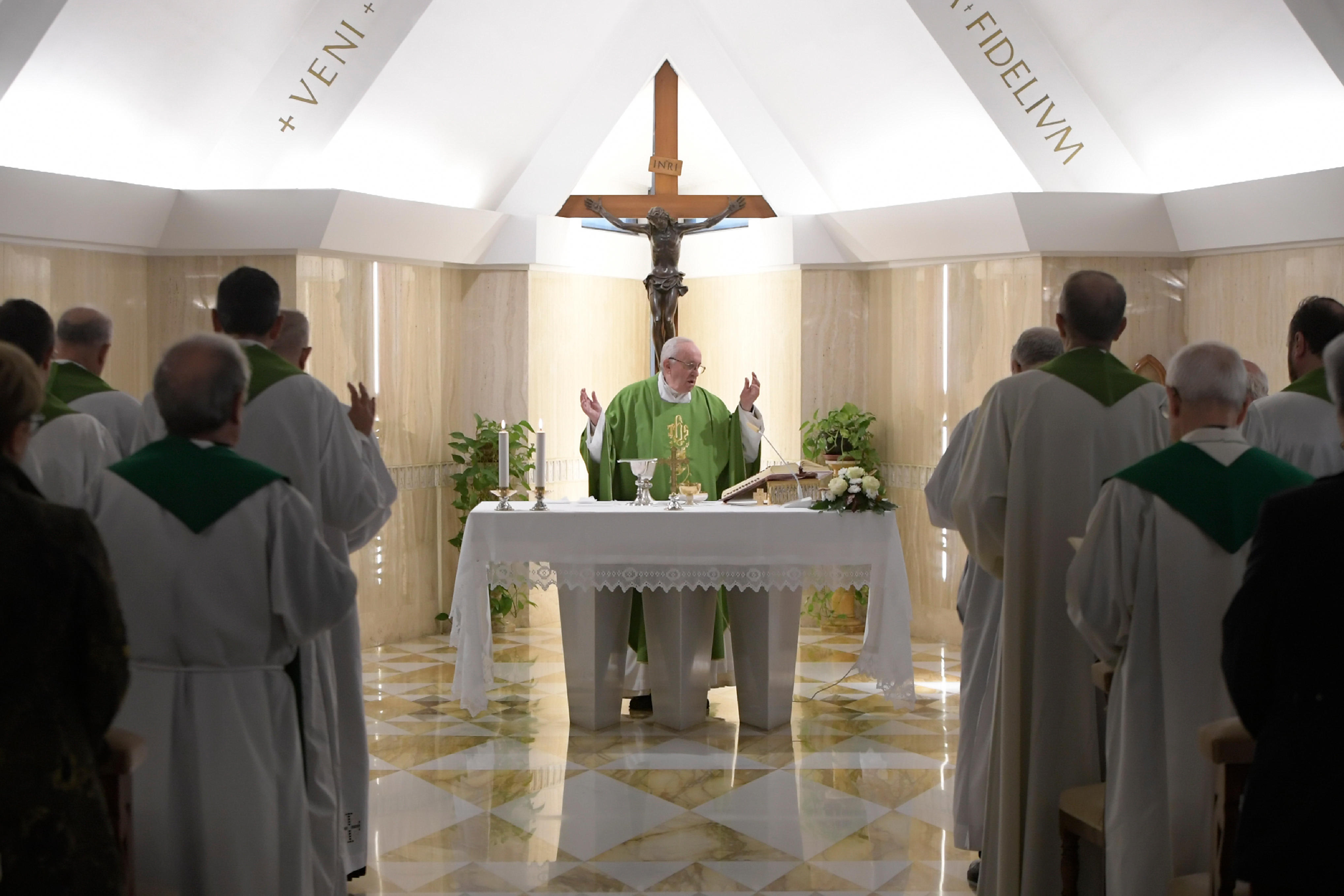 Francisco celebra la misa matutina, 8 nov. 2018 © Vatican Media