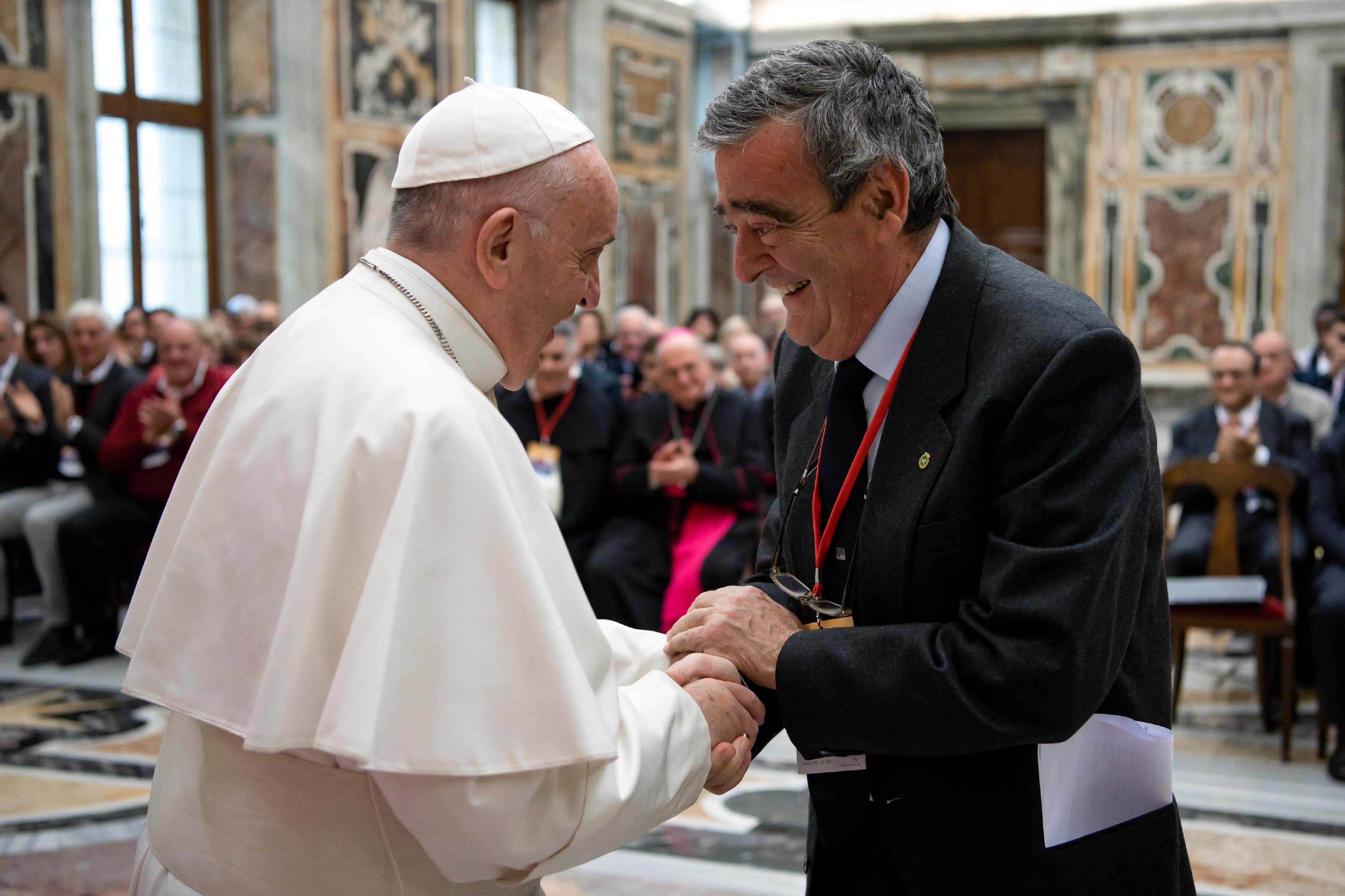 """Audiencia del Papa con los miembros de la Fundación """"Giorgio La Pira"""" © Vatican Media"""
