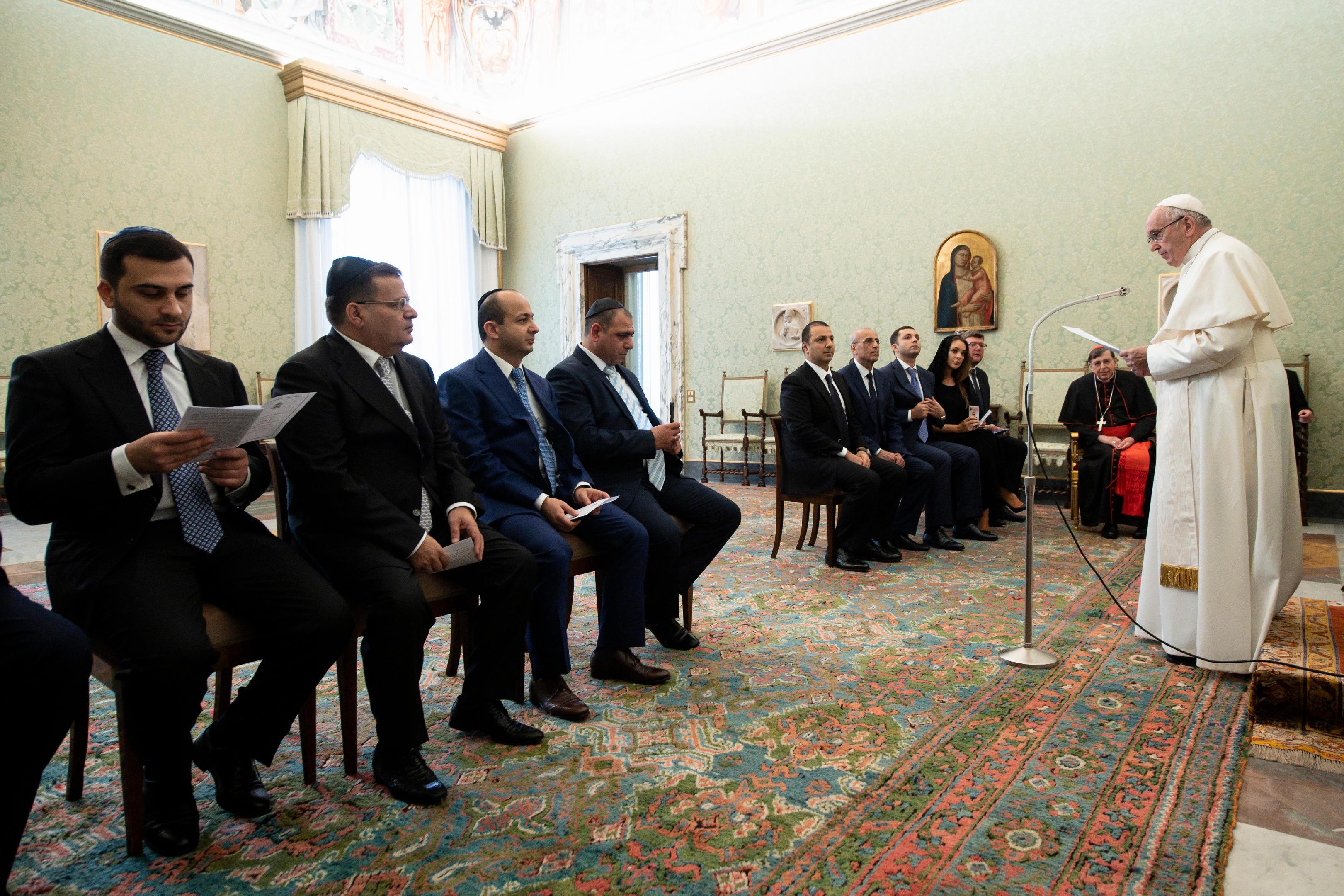 Audiencia del Papa con rabinos © Vatican Media