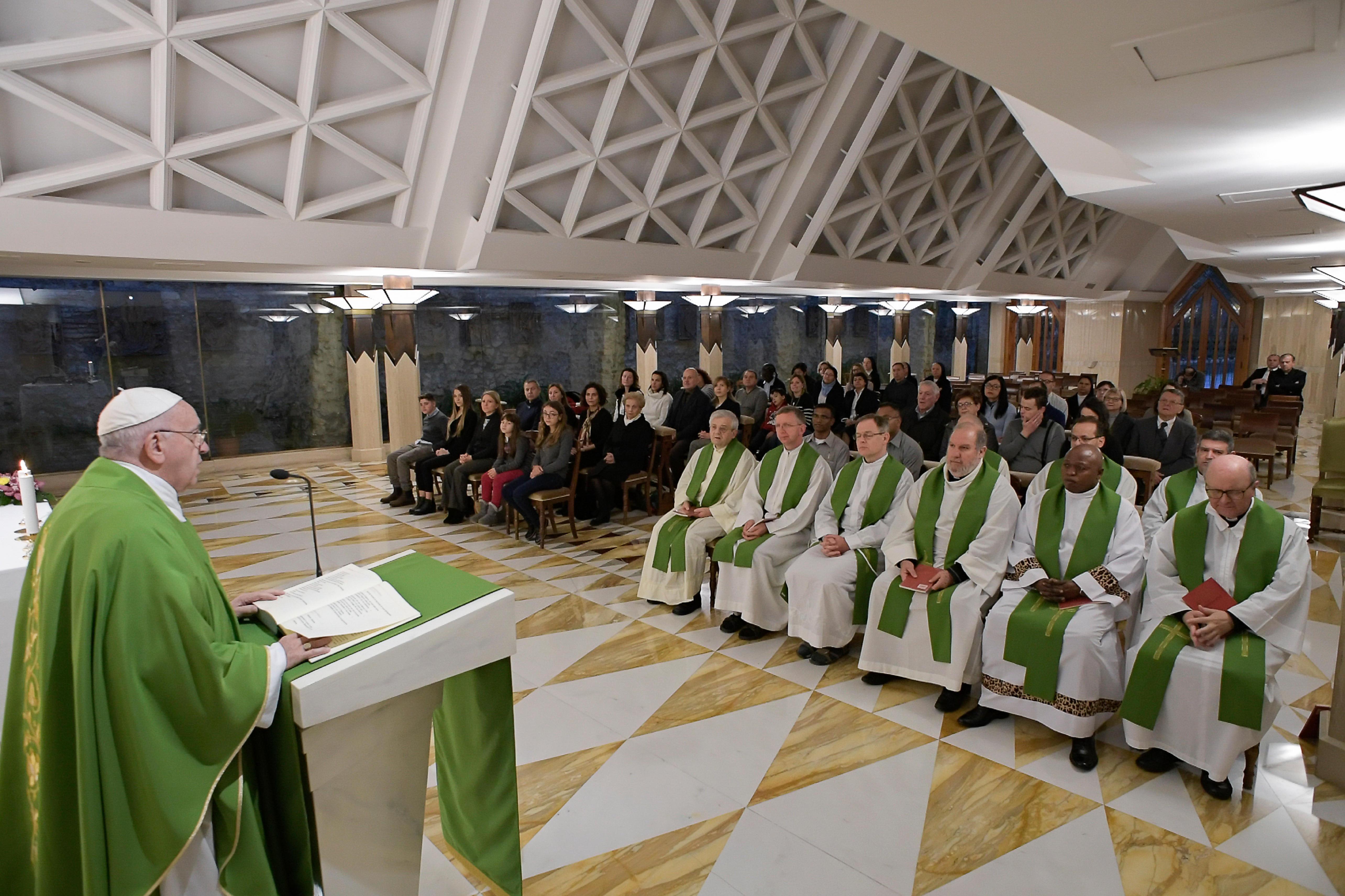 Misa Santa Marta 29 nov. 2018 © Vatican Media