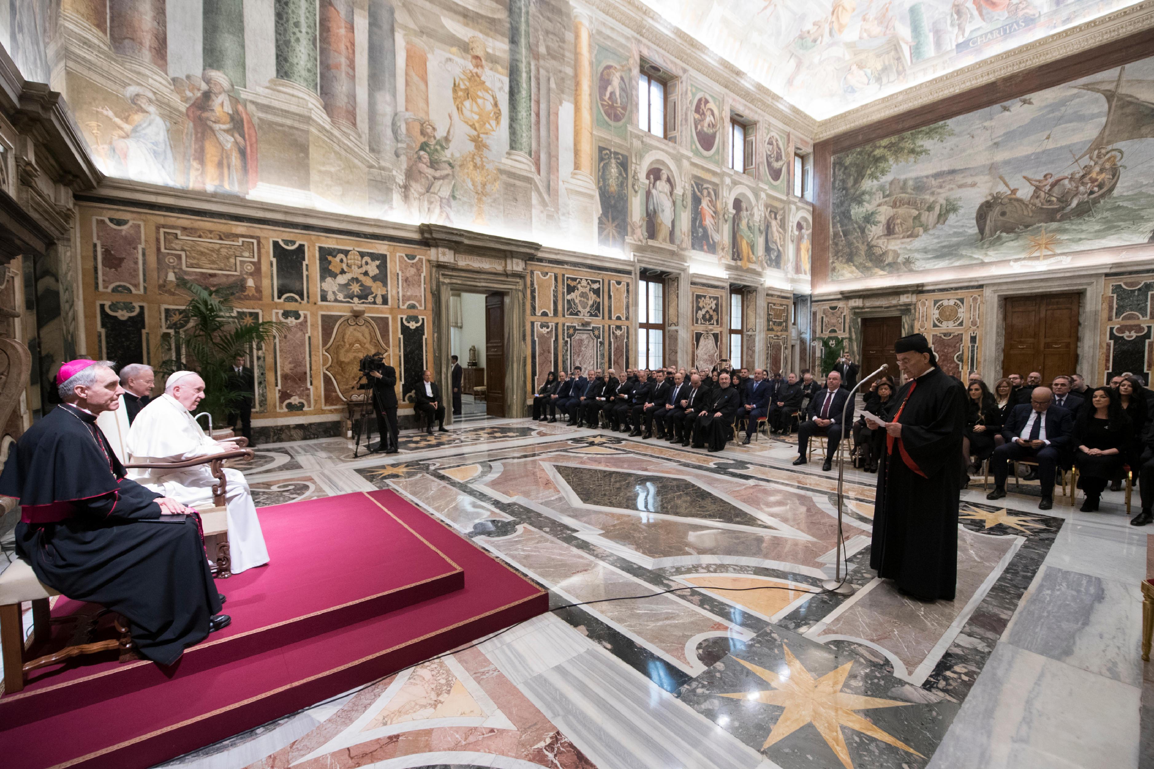 """Audiencia con la """"Fundación Maronita""""© Vatican Media"""